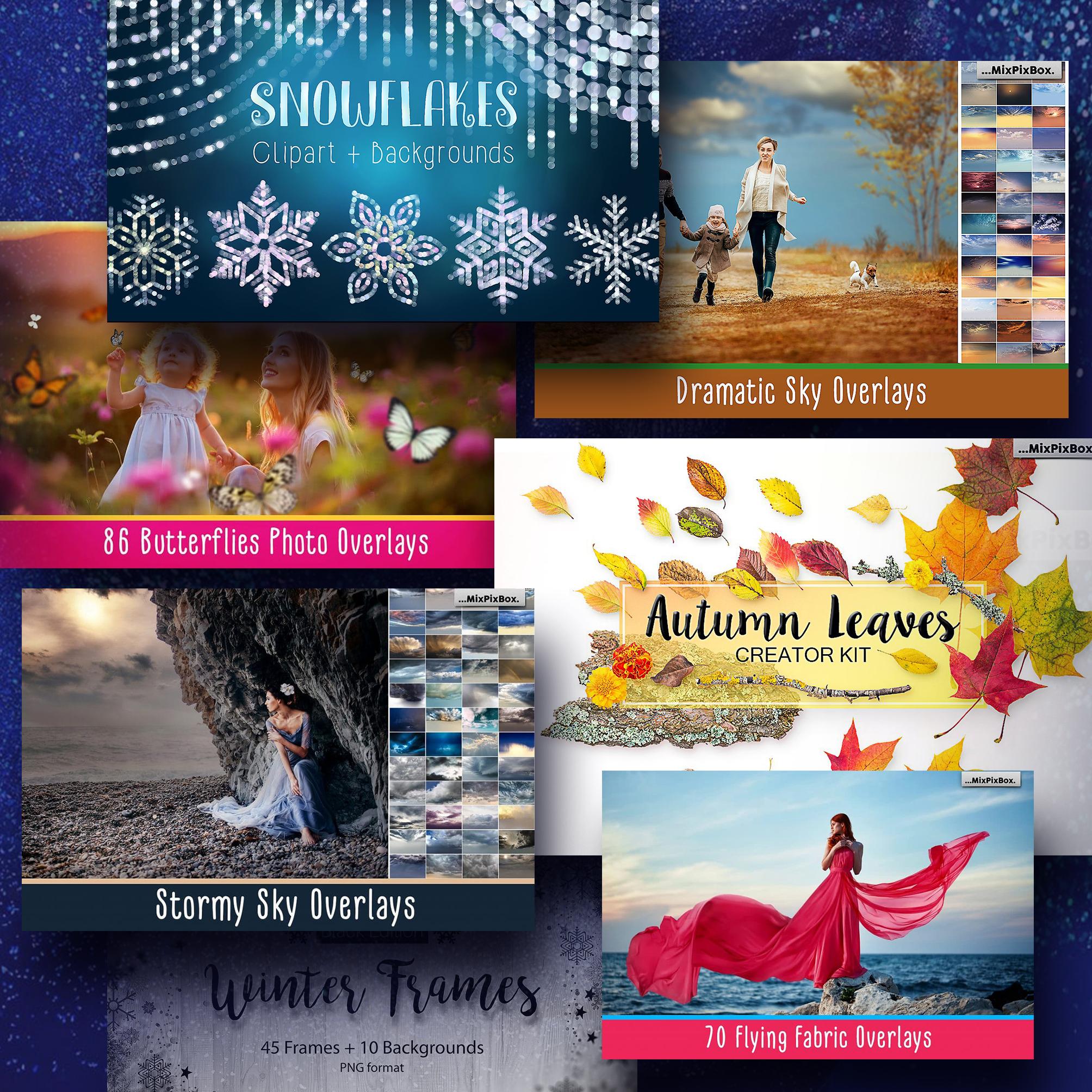Examples Mega Photo Overlays Deal: 35 All Seasons Bundles.