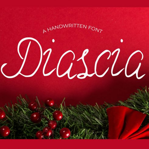 Christmas Time Font Diascia - Main Image. 4 490x490