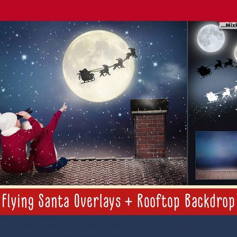 Santa Overlays for Photoshop