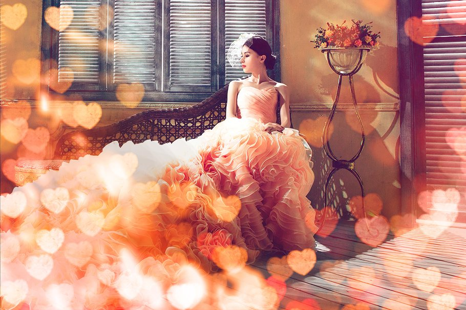 52 Heart Overlays: Romantic Heart Bokeh Photo Overlays - heart bokeh overlay actions 8