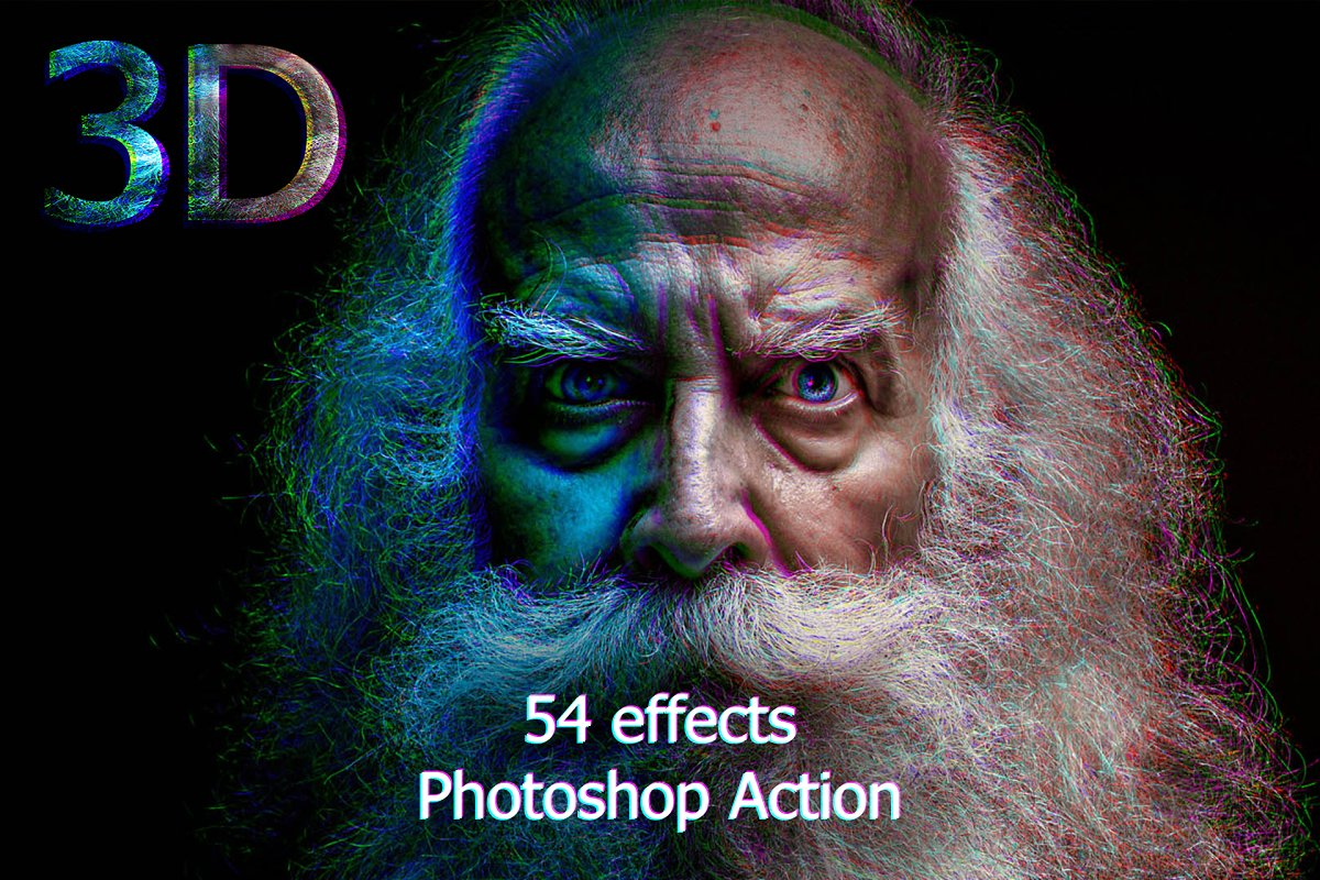 3D Actions Photoshop for Creating 3D Effects - p1a