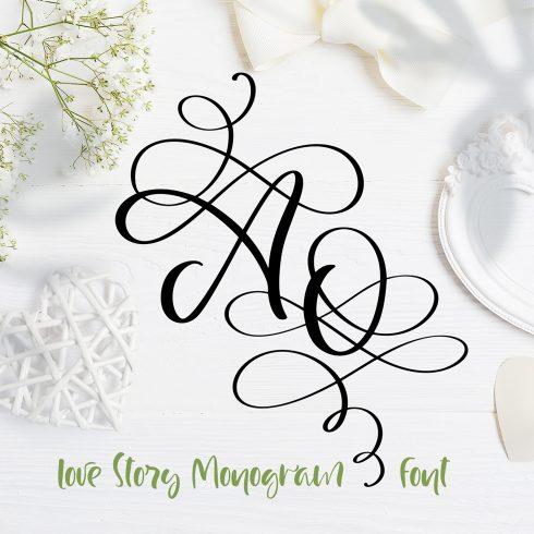 Love Letters Monogram Font - title01 1 490x490