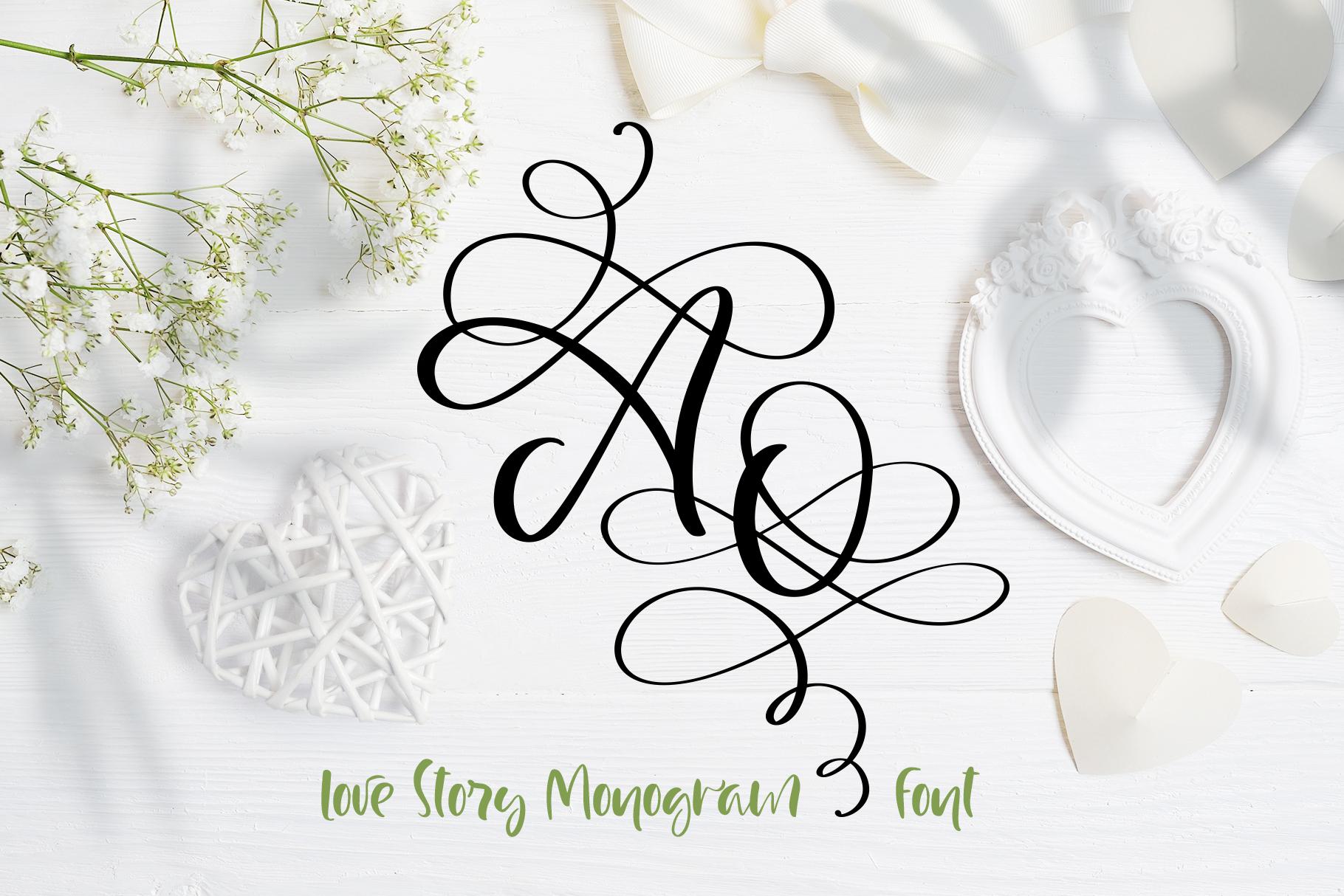 Love Letters Monogram Font - title01