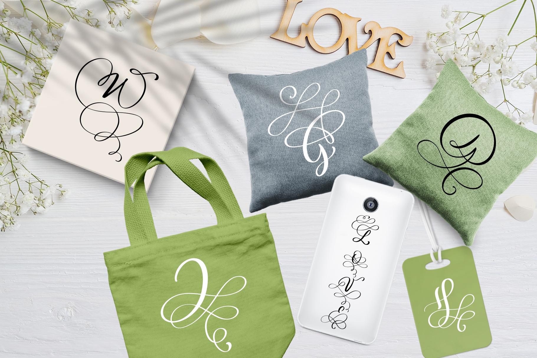Love Letters Monogram Font - title04