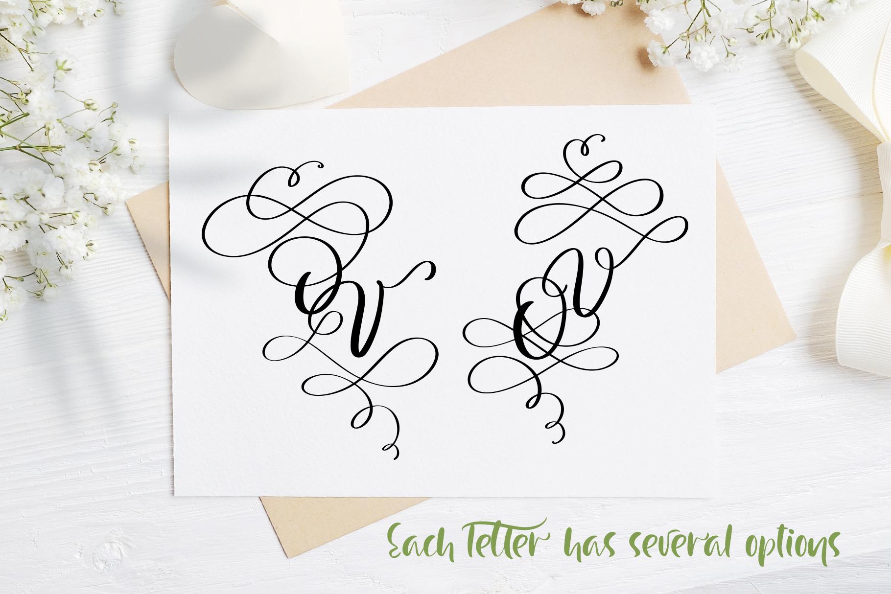 Love Letters Monogram Font - title05