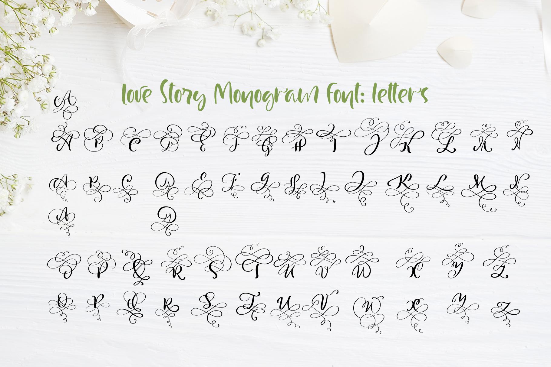 Love Letters Monogram Font - title06