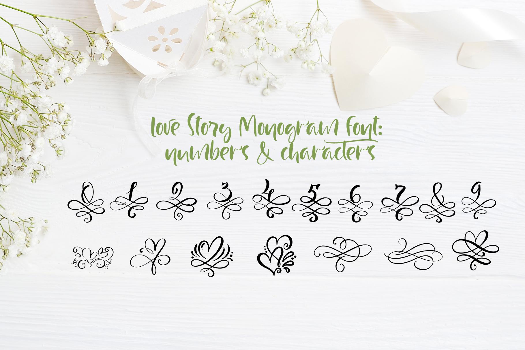 Love Letters Monogram Font - title07