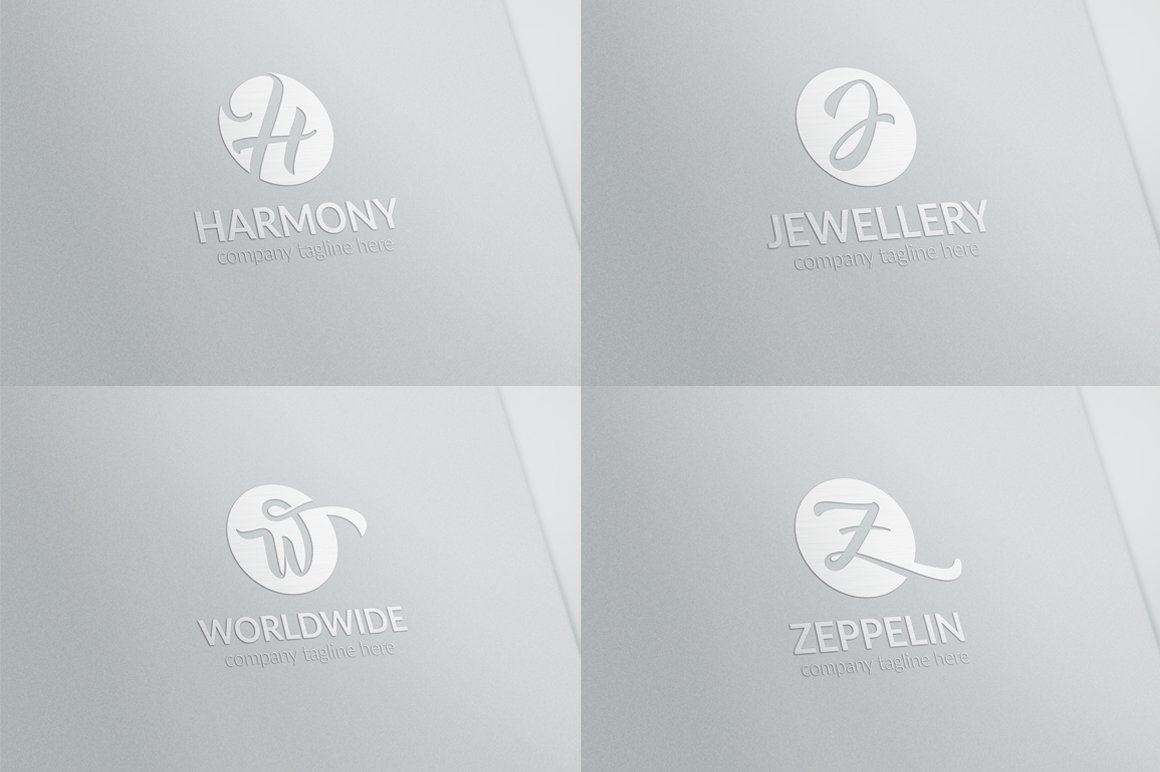 All Initial Letter Logos Bundle - untitled 05