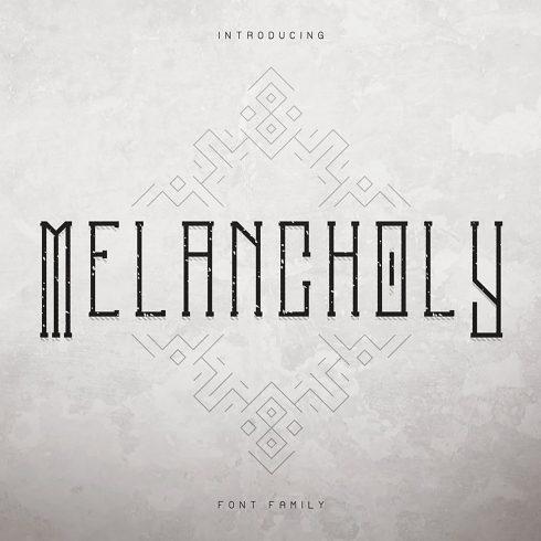 Melancholy Display Typeface Psycho + Extras - 1 1 4 490x490