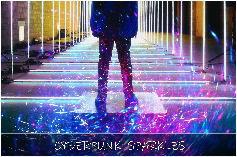 Cyberpunk Pink Sparkles Overlays - 19 main