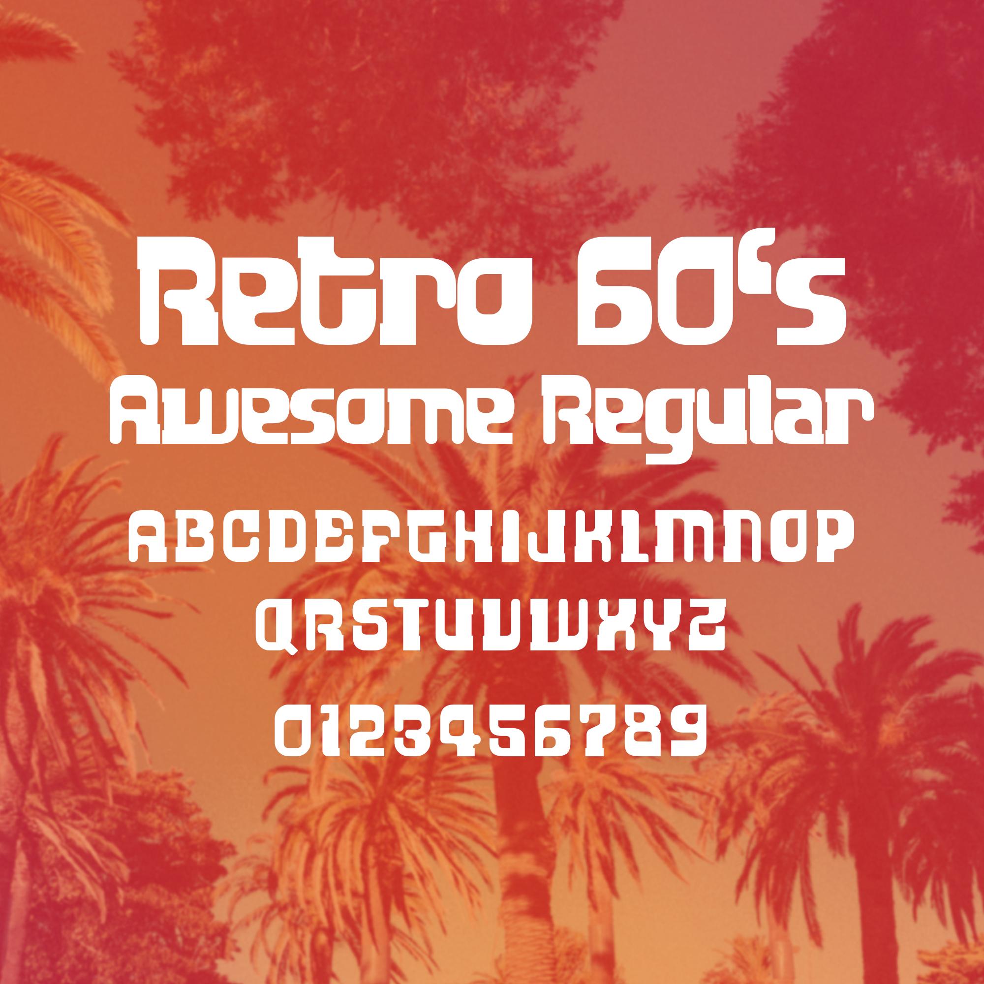 60's Retro Font