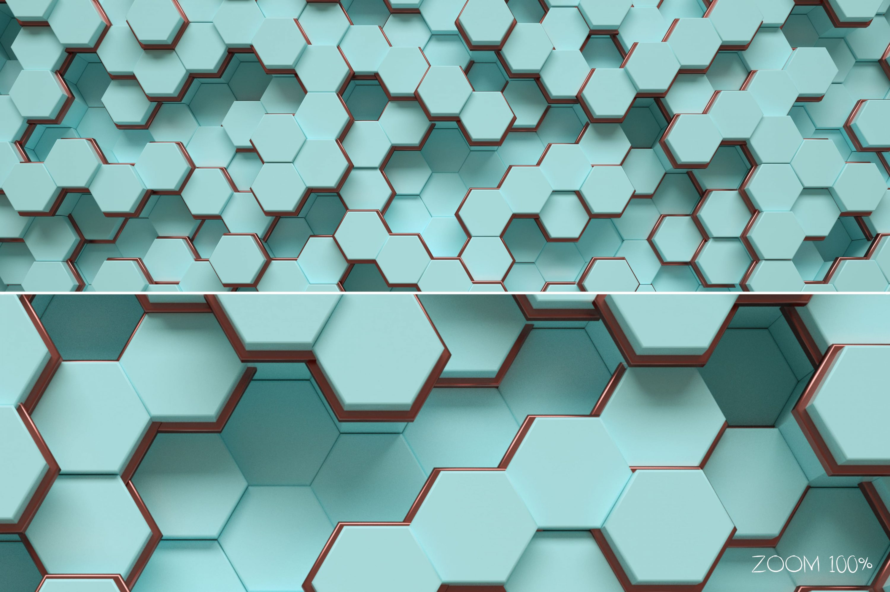 Tiffany & Rose Gold Hexagon Backgrounds - 30 zoom