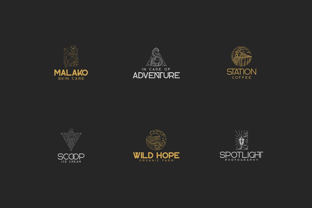 Rocking Logos Bundle: 3 fonts + 6 Logos - 3a