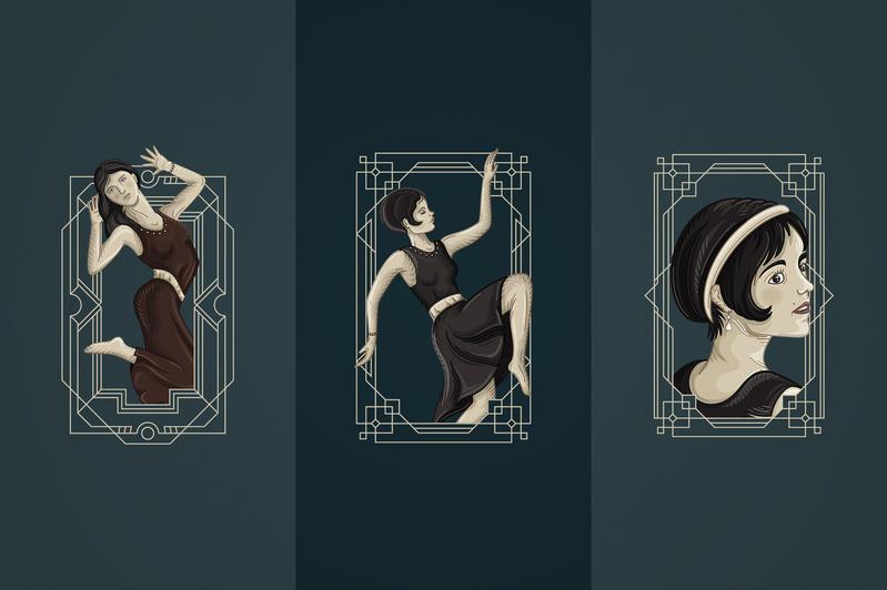 12 Art Deco illustrations - Ai, EPS, PSD - 5 3a5ad46a 48a8 48a6 b042 e186182127ba 800x