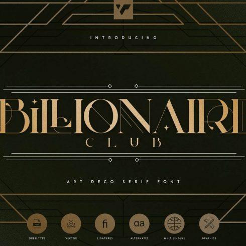 Billionaire Club: Art Deco Frames + Frames and Lines - 690 490x490