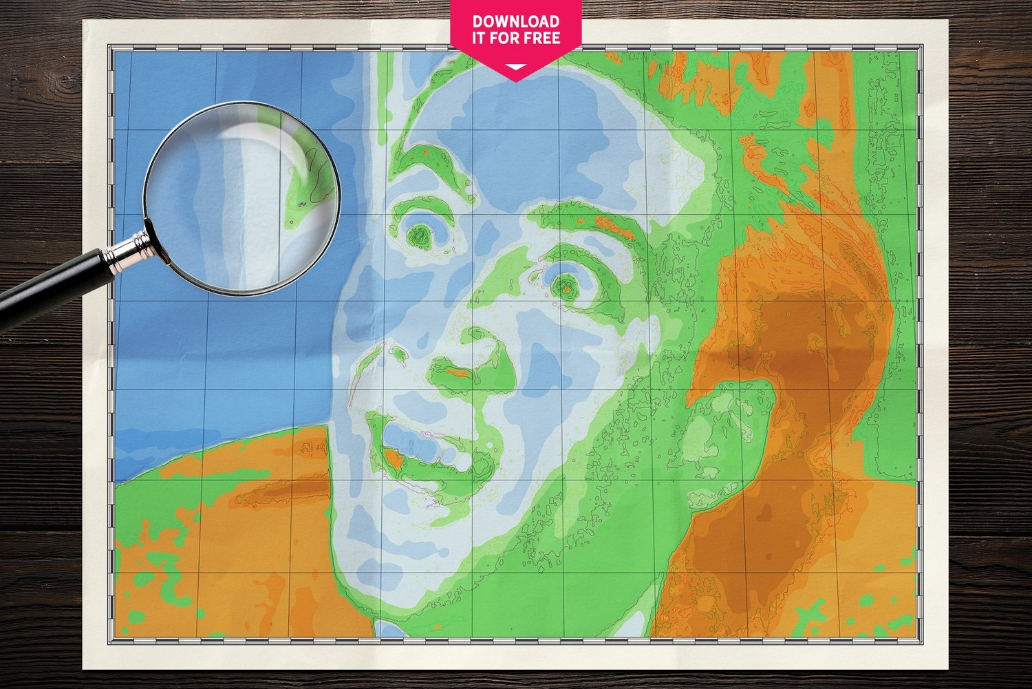 Free World Map Wall Poster: Nicolas Cage Map Wall Art Poster - 831333336
