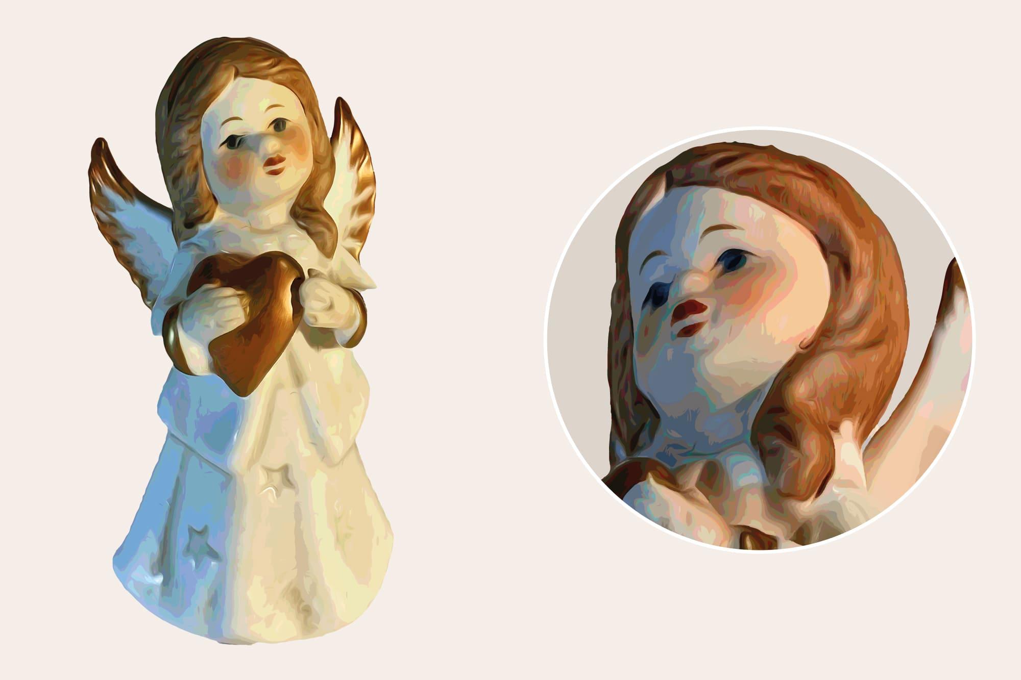 496 Christmas Illustrations: Christmas Vectors Bundle SVG, EPS, AI - Angel 1b
