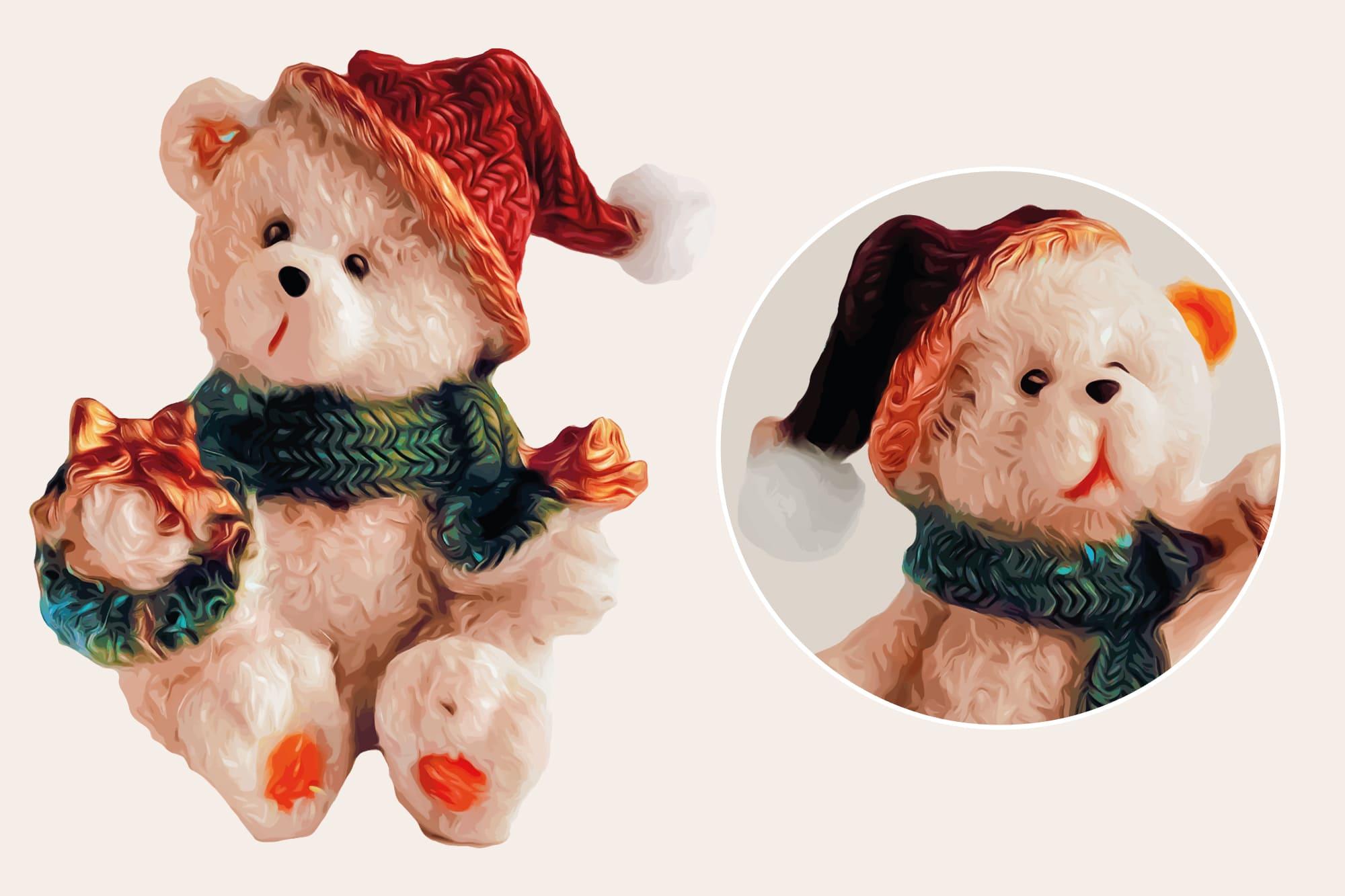 496 Christmas Illustrations: Christmas Vectors Bundle SVG, EPS, AI - Bears 2b