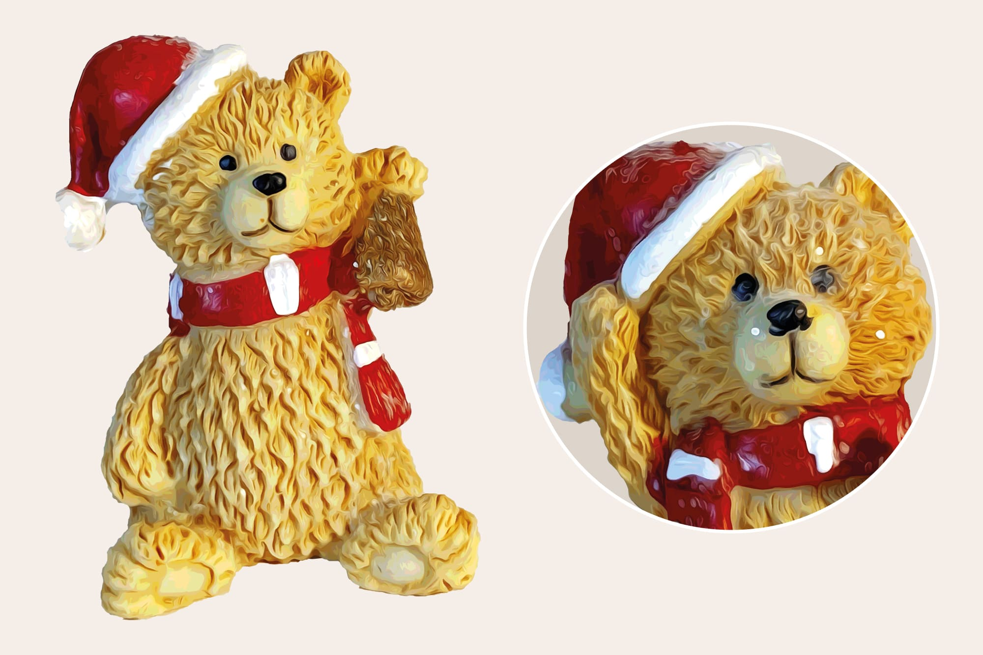 496 Christmas Illustrations: Christmas Vectors Bundle SVG, EPS, AI - Bears 3b