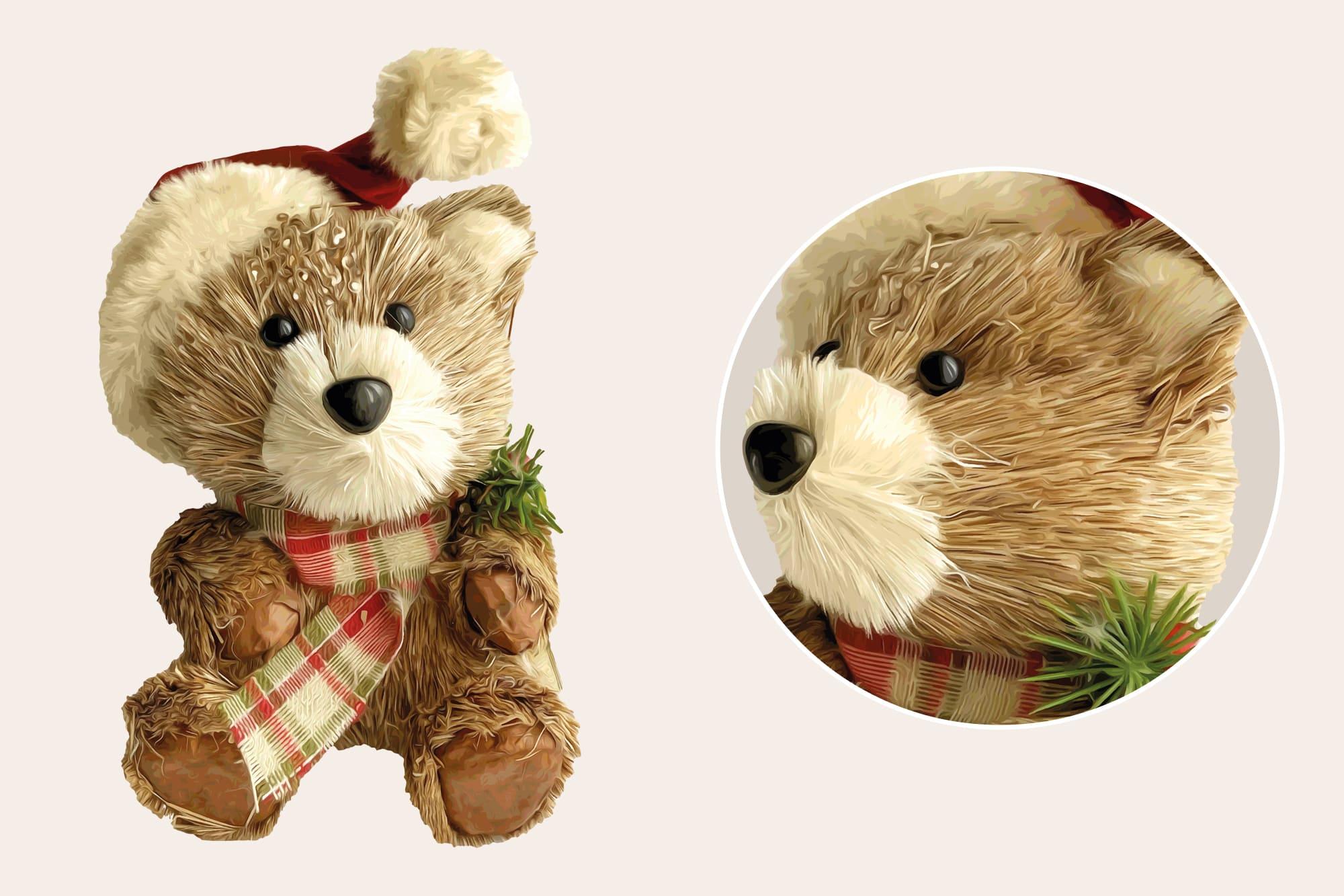 496 Christmas Illustrations: Christmas Vectors Bundle SVG, EPS, AI - Bears 4b