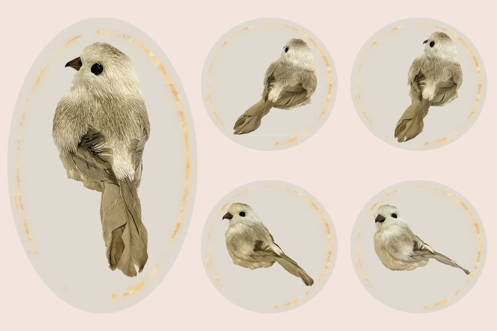 496 Christmas Illustrations: Christmas Vectors Bundle SVG, EPS, AI - Birds 3c