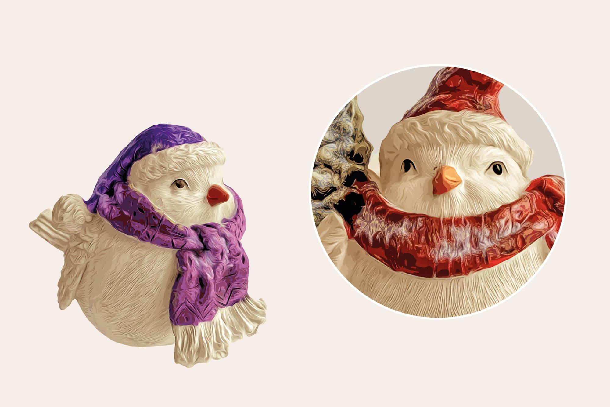 496 Christmas Illustrations: Christmas Vectors Bundle SVG, EPS, AI - Birds 4b