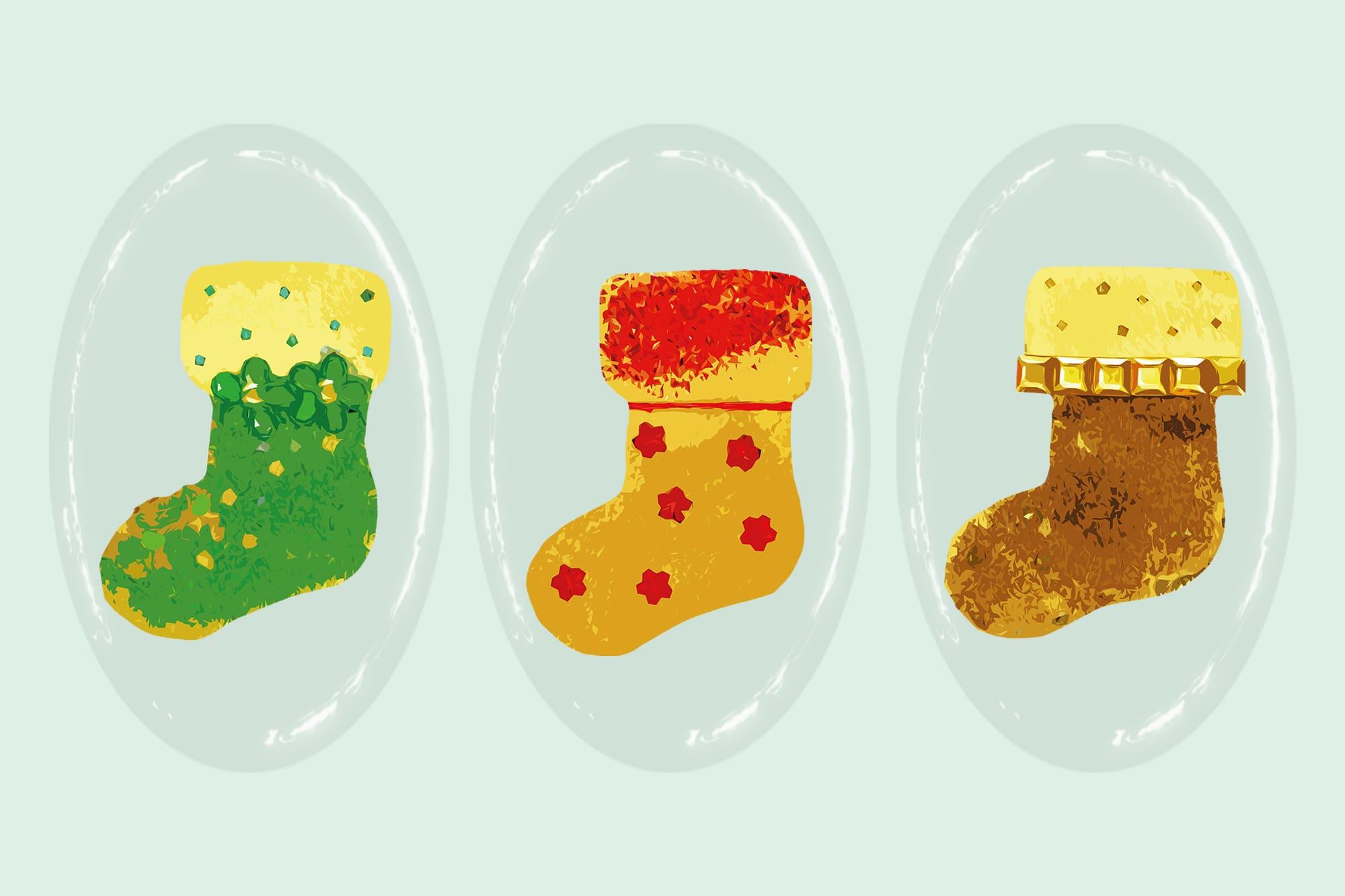 496 Christmas Illustrations: Christmas Vectors Bundle SVG, EPS, AI - Boots d
