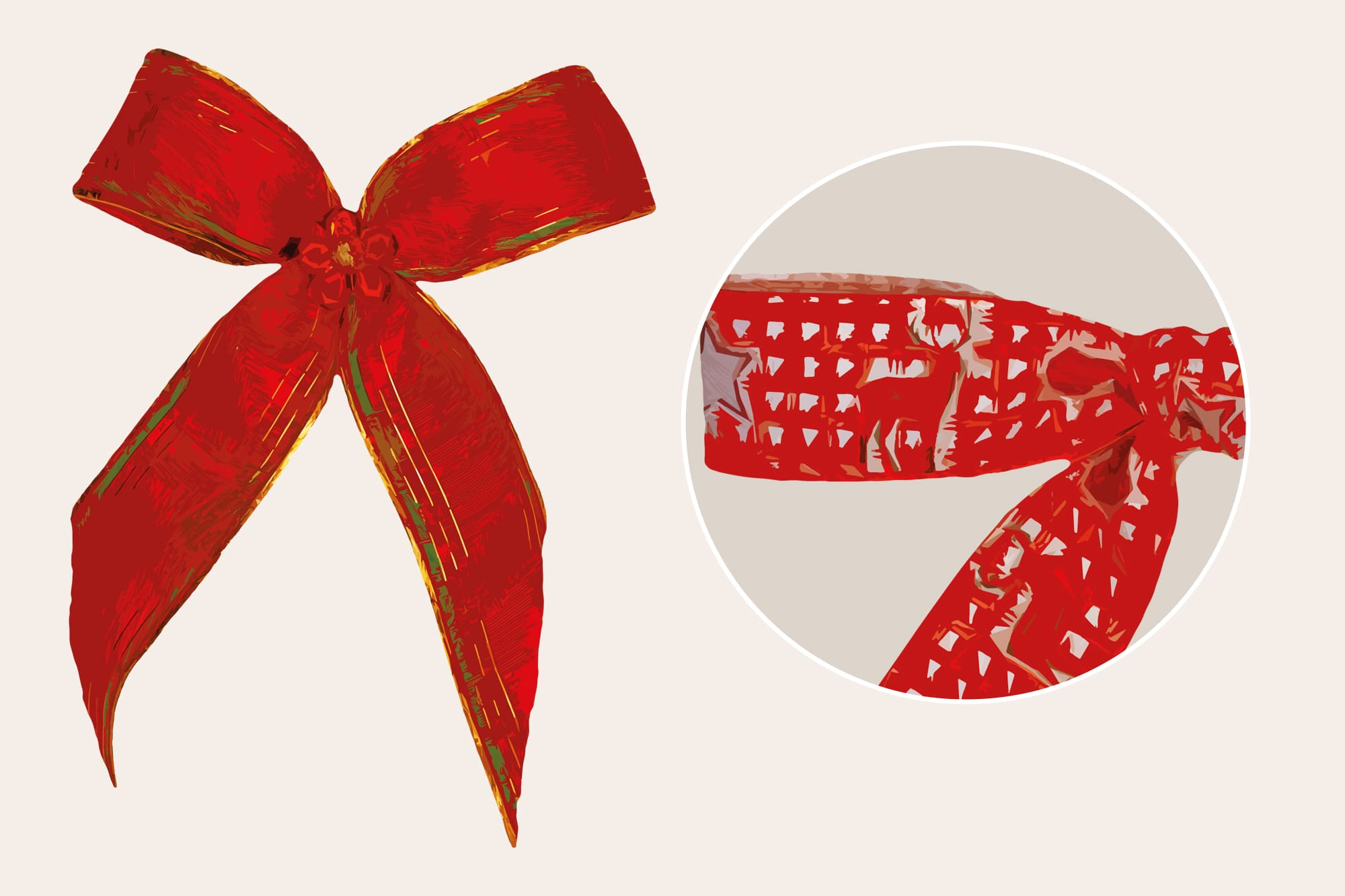 496 Christmas Illustrations: Christmas Vectors Bundle SVG, EPS, AI - Bows b