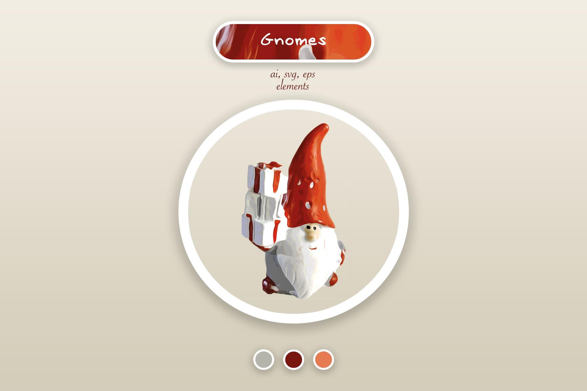 496 Christmas Illustrations: Christmas Vectors Bundle SVG, EPS, AI - Gnomes a