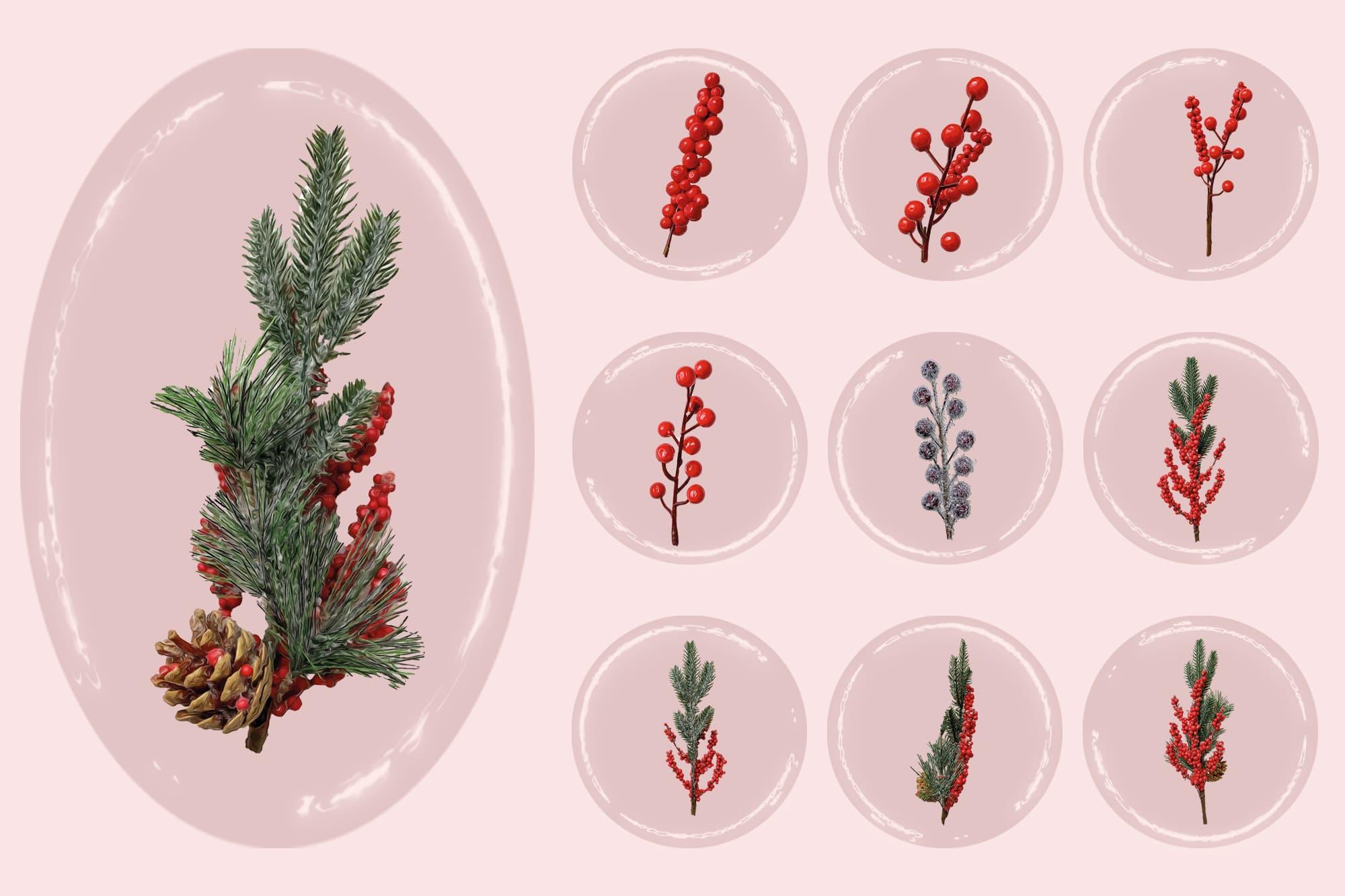 496 Christmas Illustrations: Christmas Vectors Bundle SVG, EPS, AI - Merry Christmas 3c