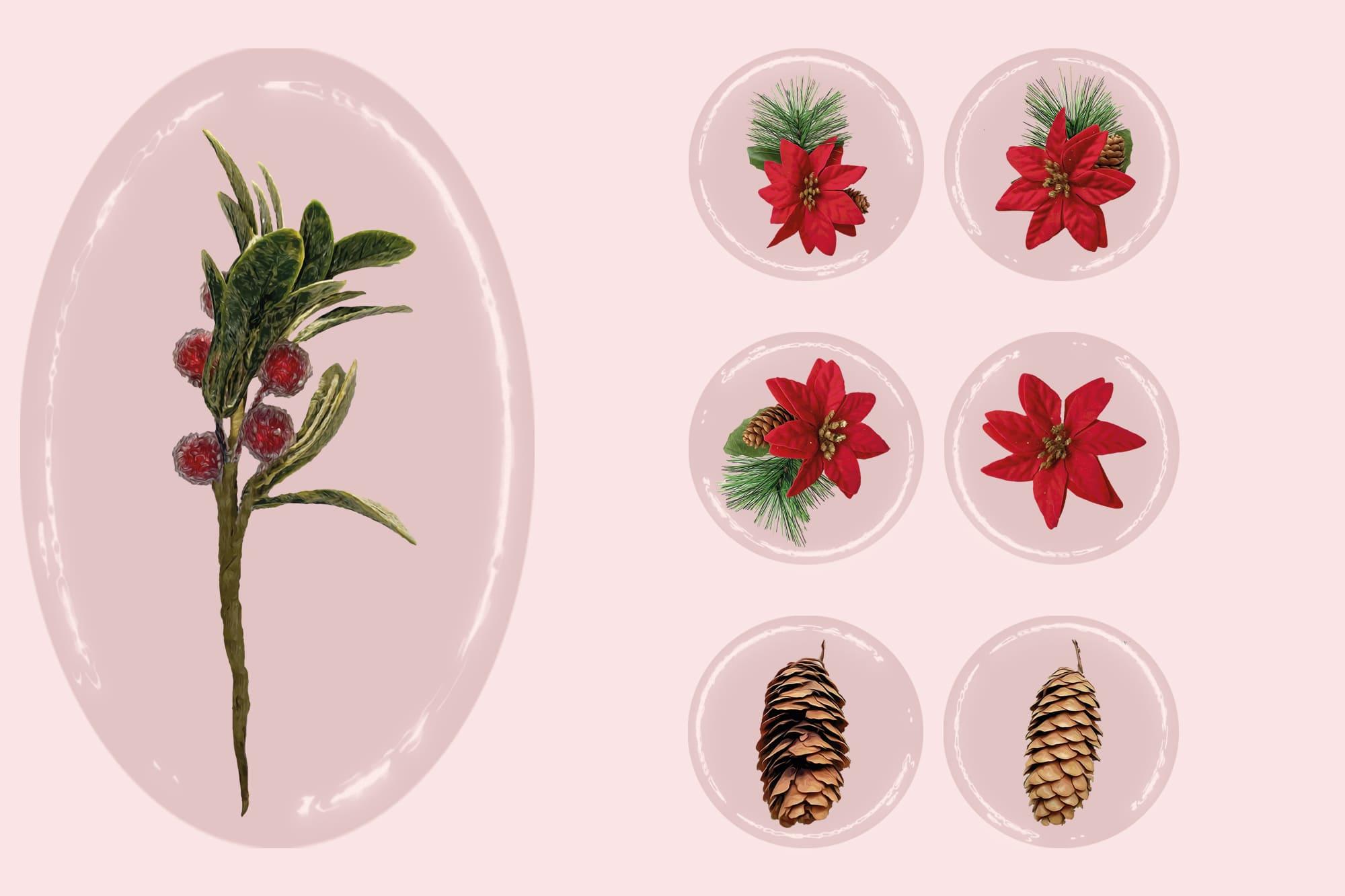 496 Christmas Illustrations: Christmas Vectors Bundle SVG, EPS, AI - Merry Christmas 3d