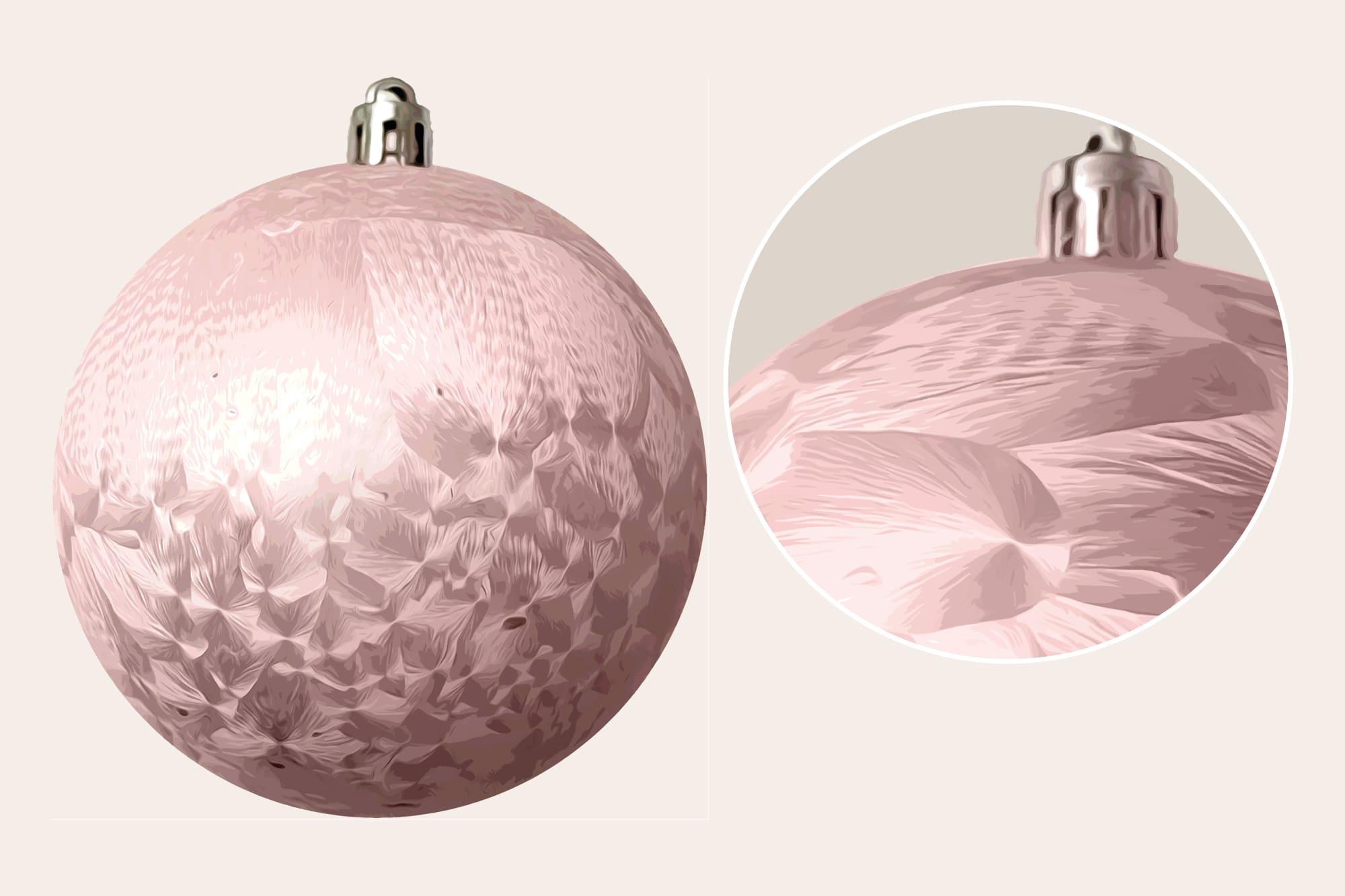 496 Christmas Illustrations: Christmas Vectors Bundle SVG, EPS, AI - Pink Christmas Balls b