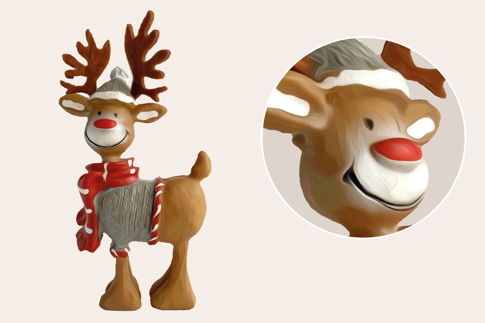 496 Christmas Illustrations: Christmas Vectors Bundle SVG, EPS, AI - Reindeer b