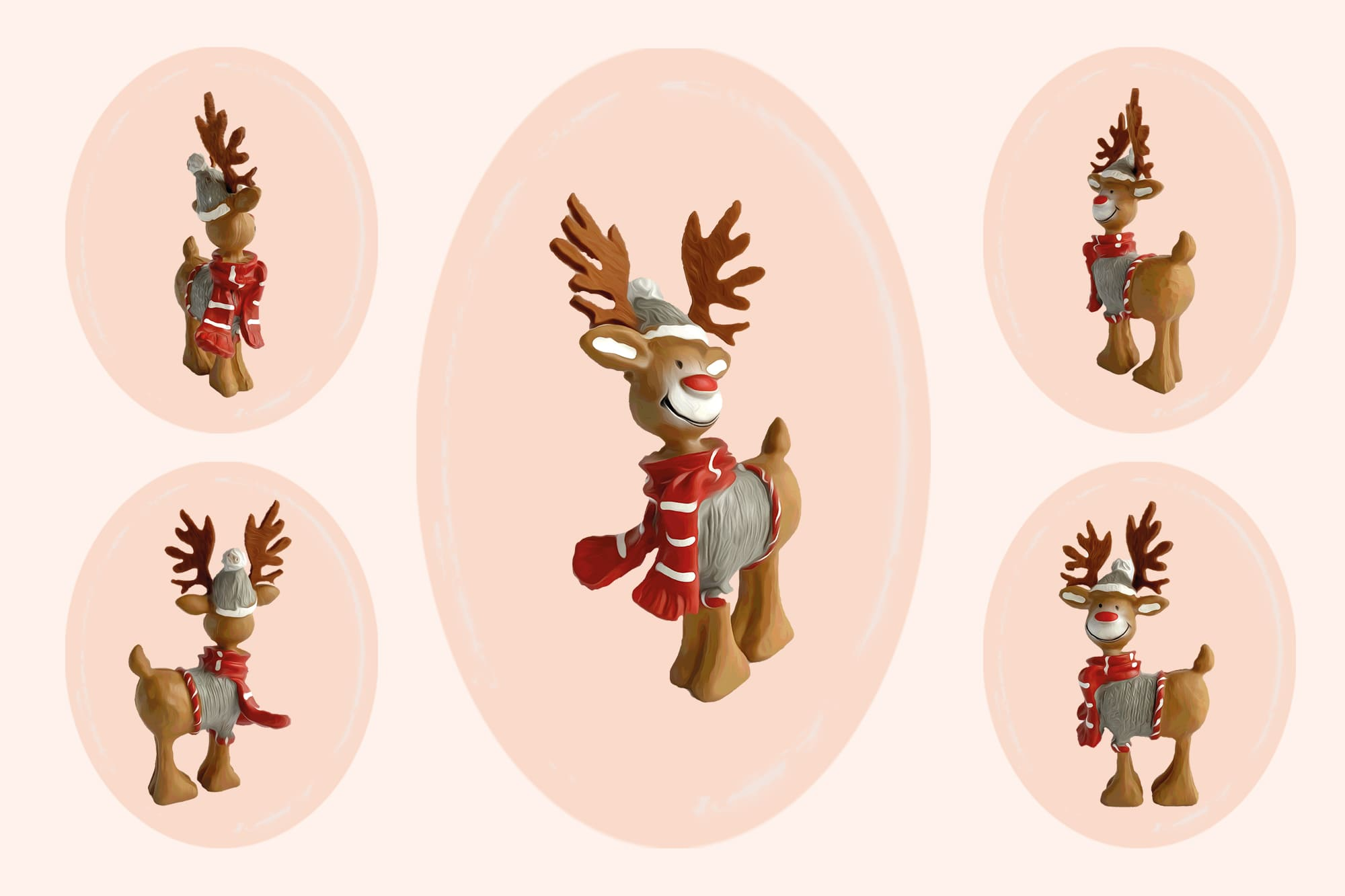 496 Christmas Illustrations: Christmas Vectors Bundle SVG, EPS, AI - Reindeer c