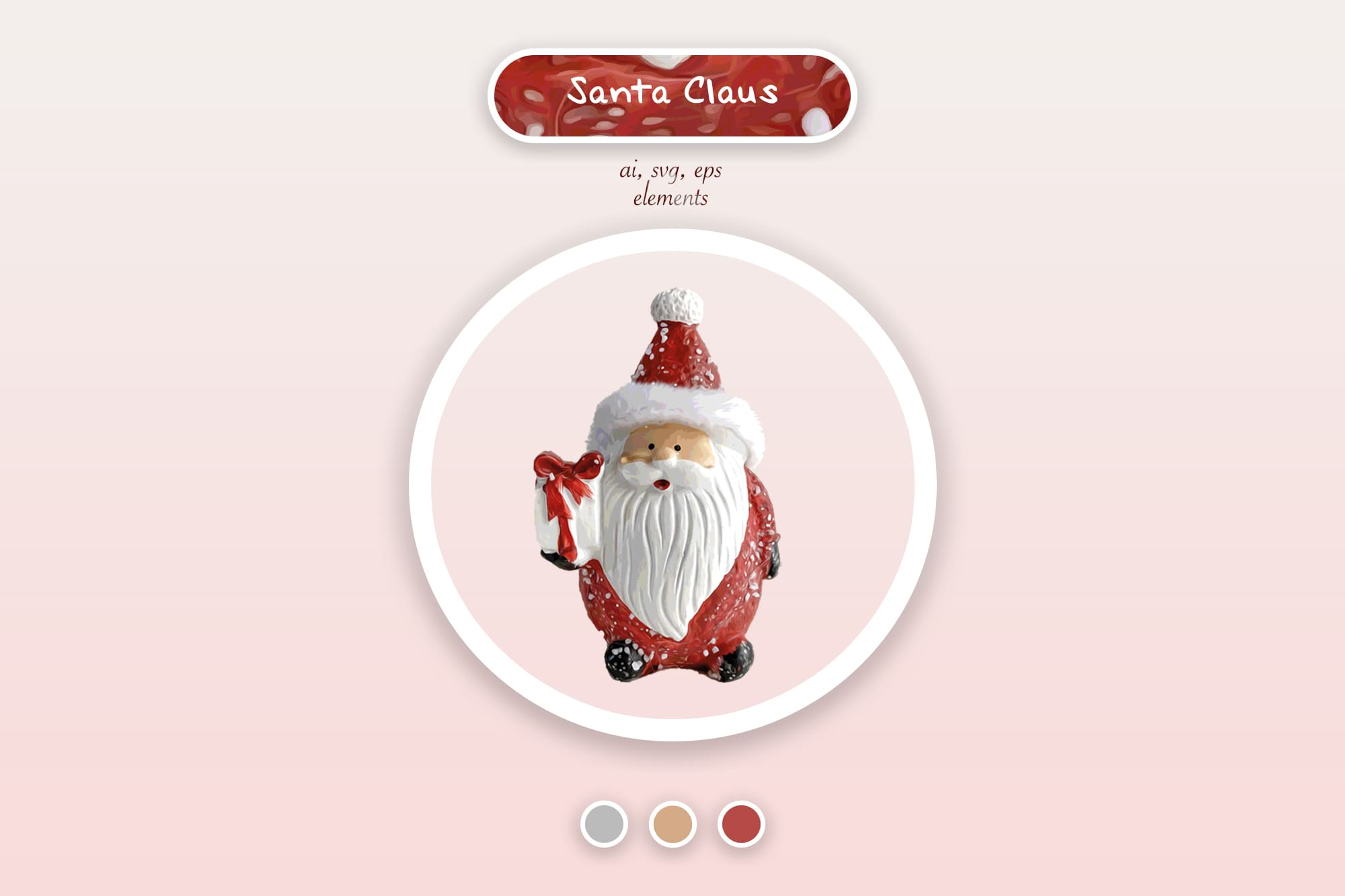 496 Christmas Illustrations: Christmas Vectors Bundle SVG, EPS, AI - Santa Claus a