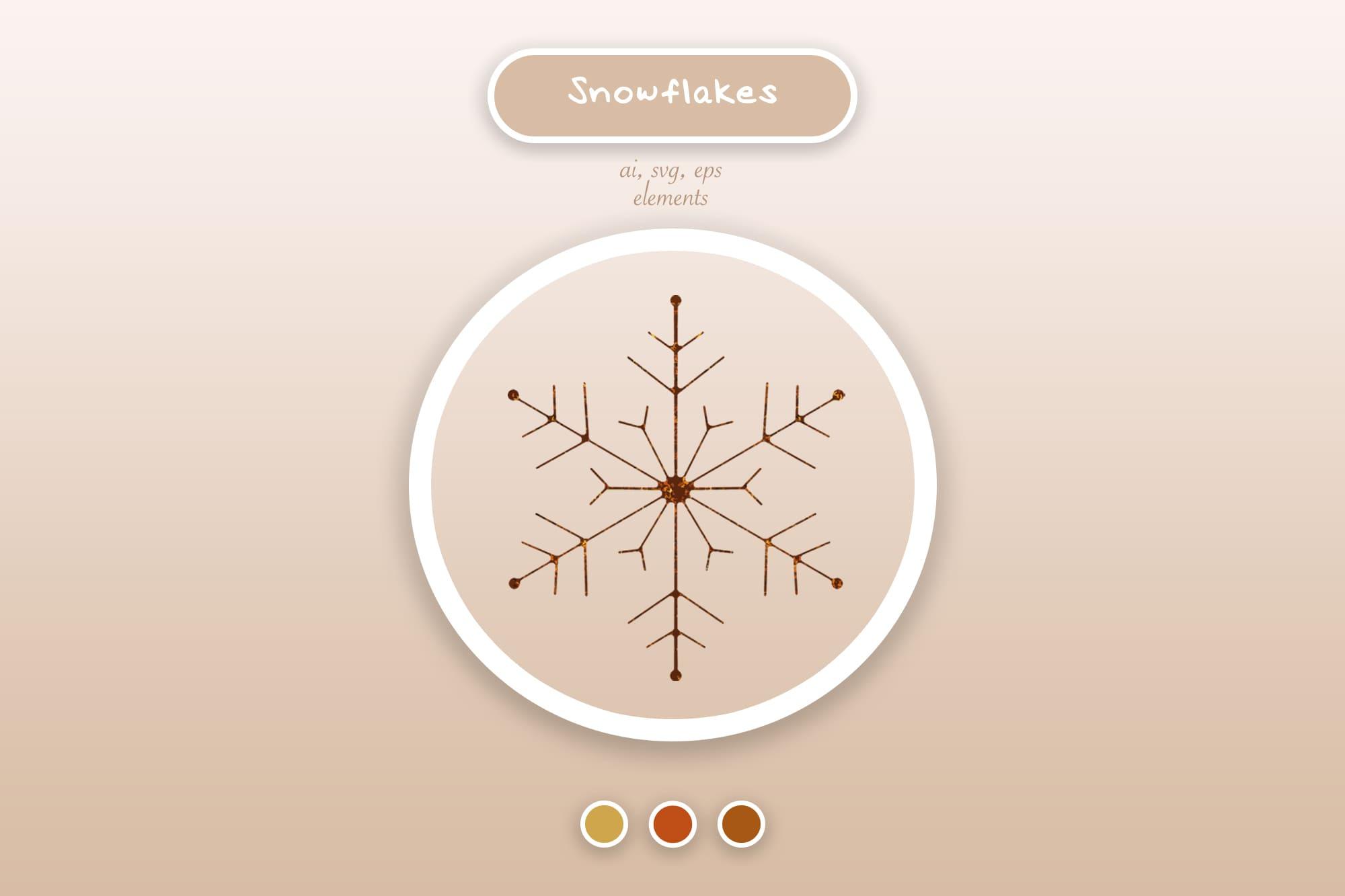 496 Christmas Illustrations: Christmas Vectors Bundle SVG, EPS, AI - Snowflakes 2a