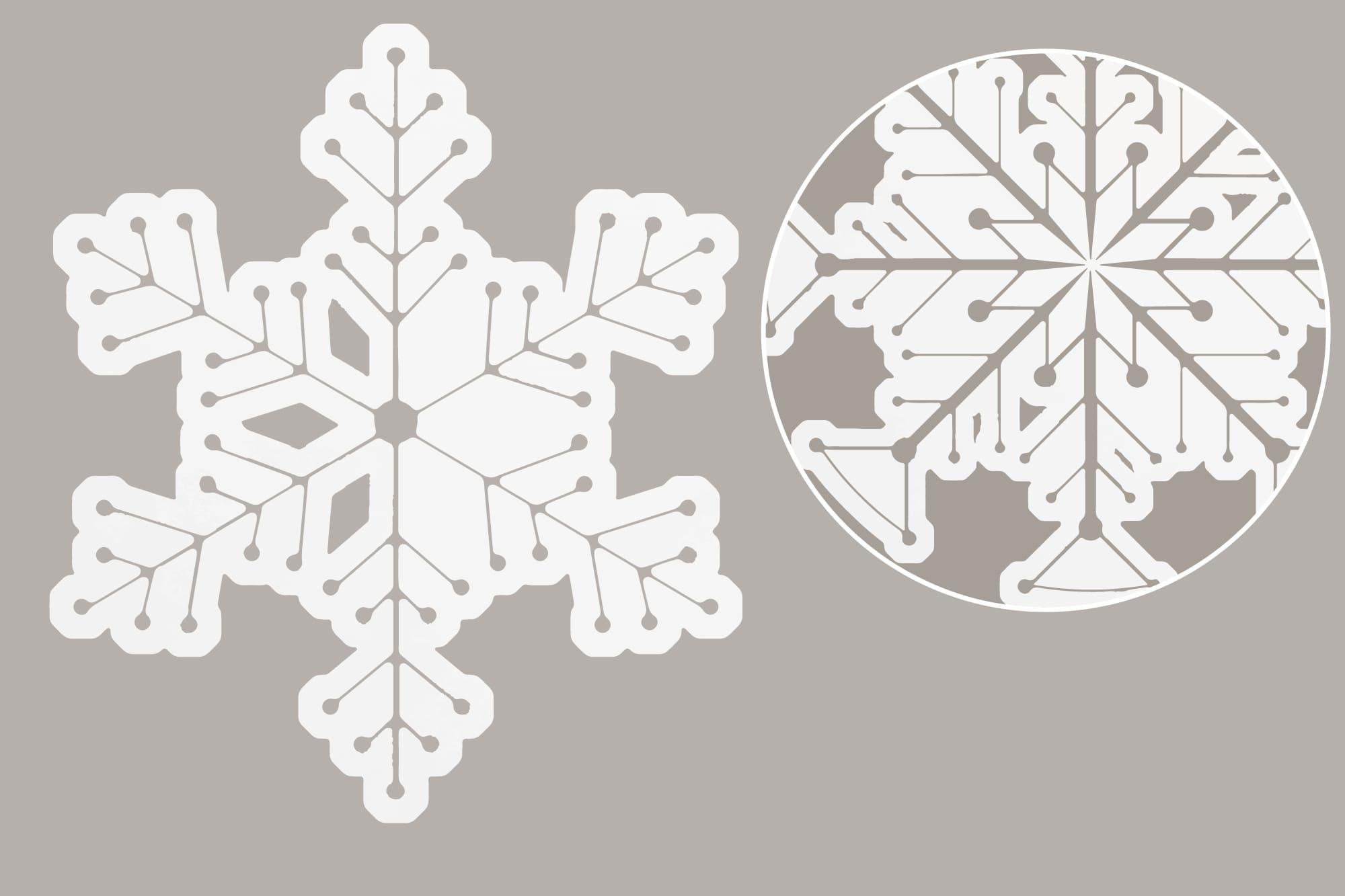 496 Christmas Illustrations: Christmas Vectors Bundle SVG, EPS, AI - Snowflakes 3b