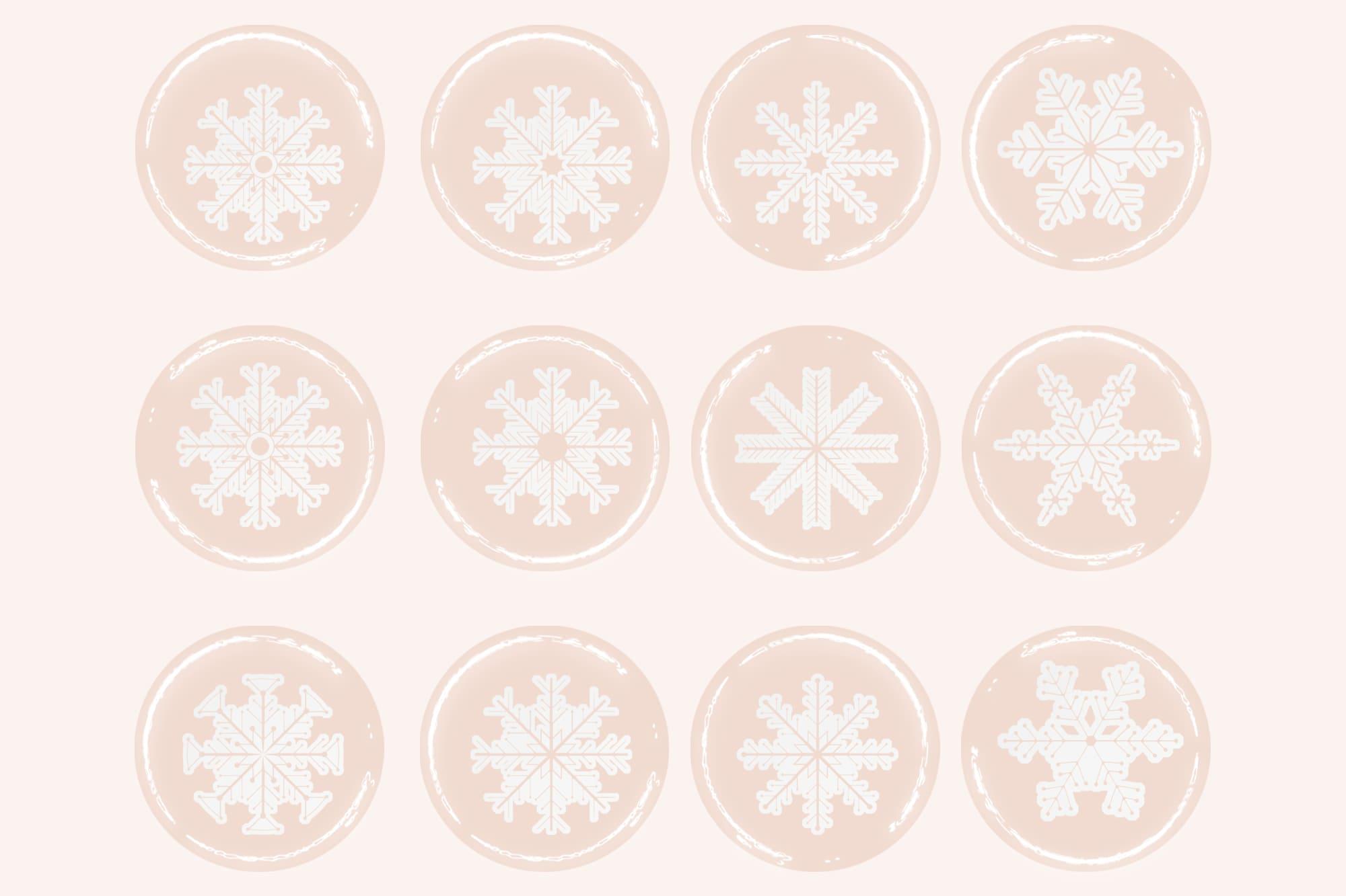 496 Christmas Illustrations: Christmas Vectors Bundle SVG, EPS, AI - Snowflakes 3d