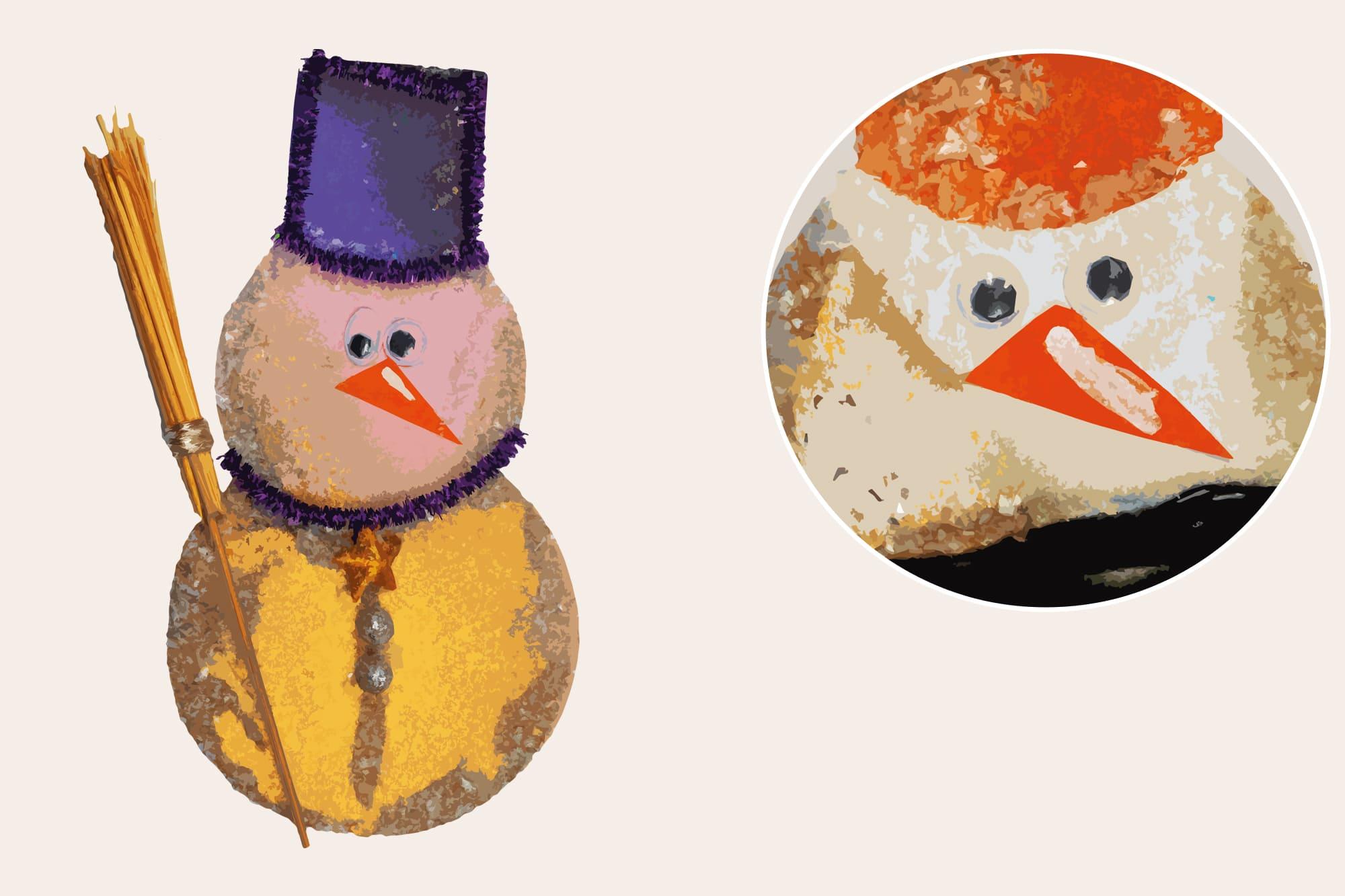 496 Christmas Illustrations: Christmas Vectors Bundle SVG, EPS, AI - Snowmen 2b