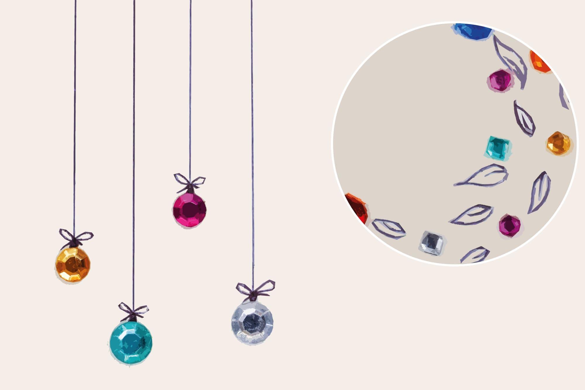 496 Christmas Illustrations: Christmas Vectors Bundle SVG, EPS, AI - Sparkly Christmas b