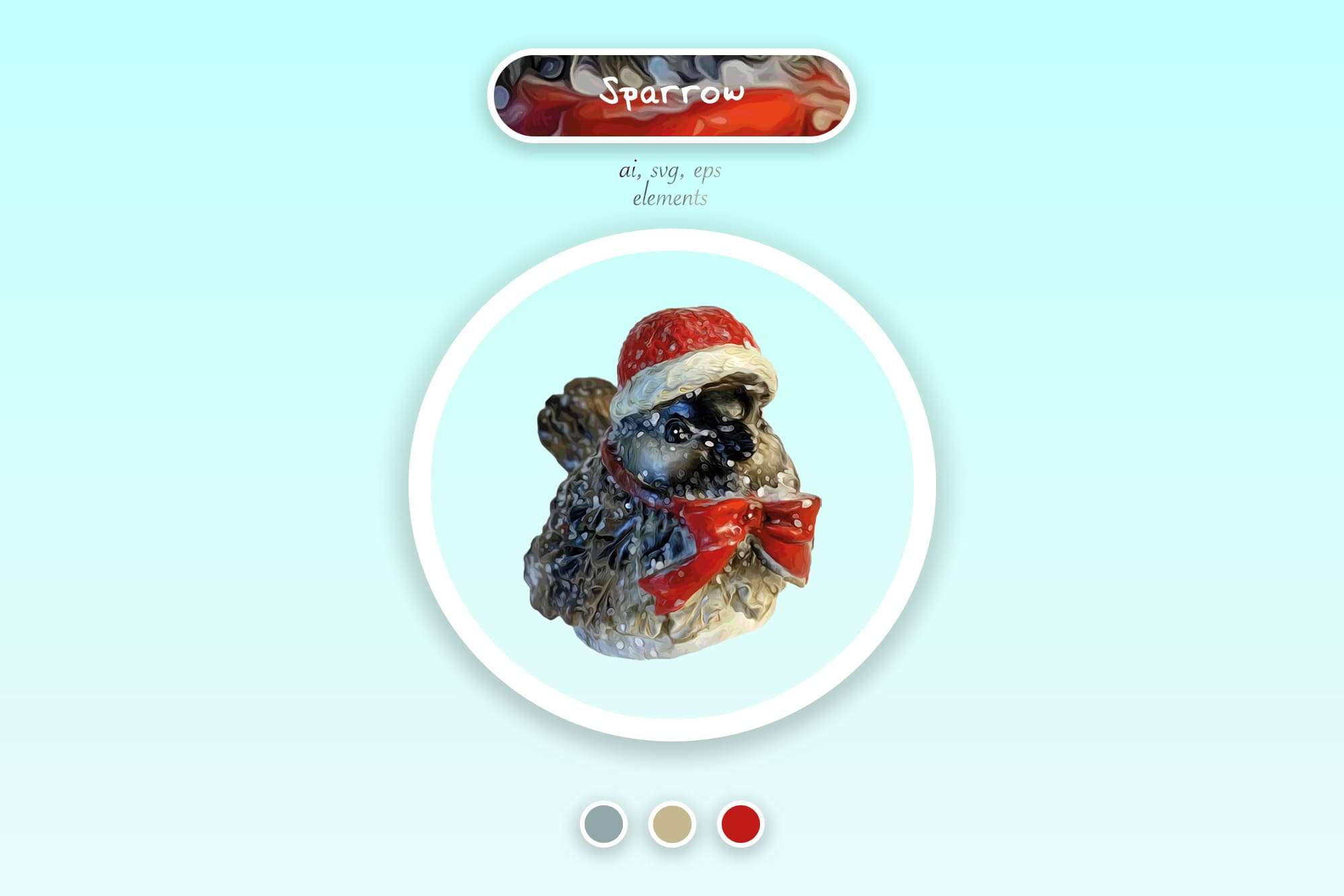 496 Christmas Illustrations: Christmas Vectors Bundle SVG, EPS, AI - Sparrow a