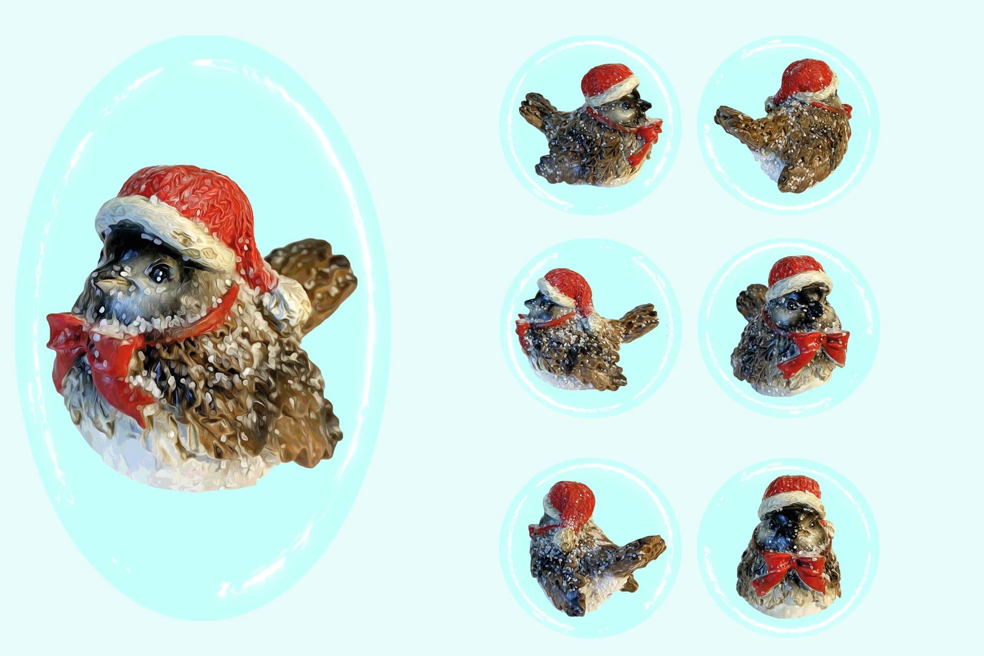 496 Christmas Illustrations: Christmas Vectors Bundle SVG, EPS, AI - Sparrow c