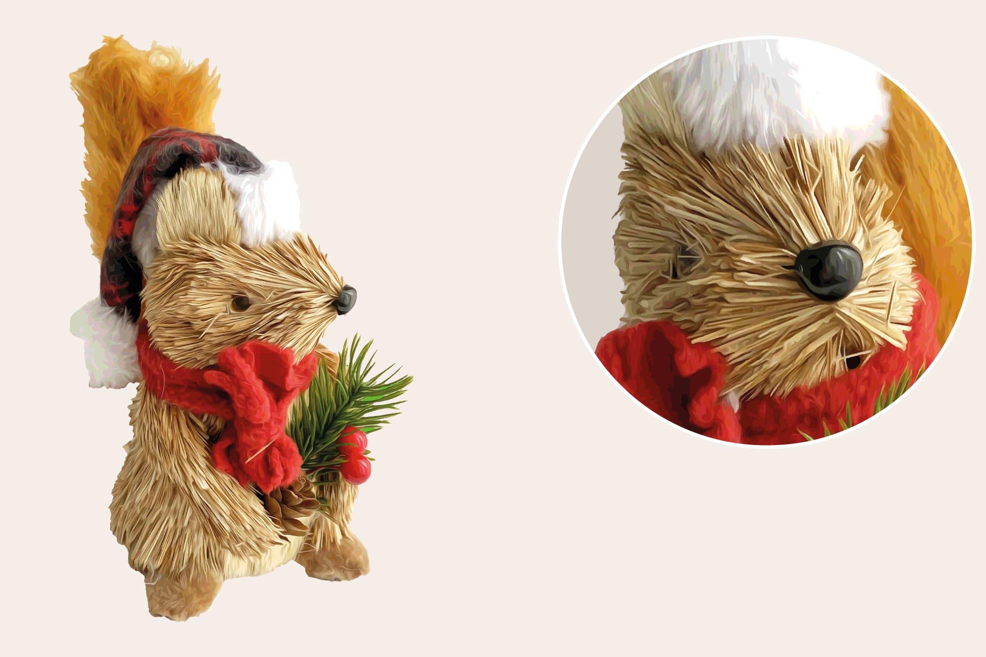 496 Christmas Illustrations: Christmas Vectors Bundle SVG, EPS, AI - Squirrel b