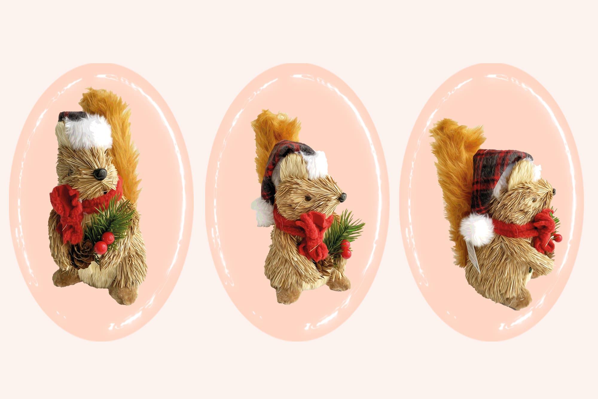 496 Christmas Illustrations: Christmas Vectors Bundle SVG, EPS, AI - Squirrel c