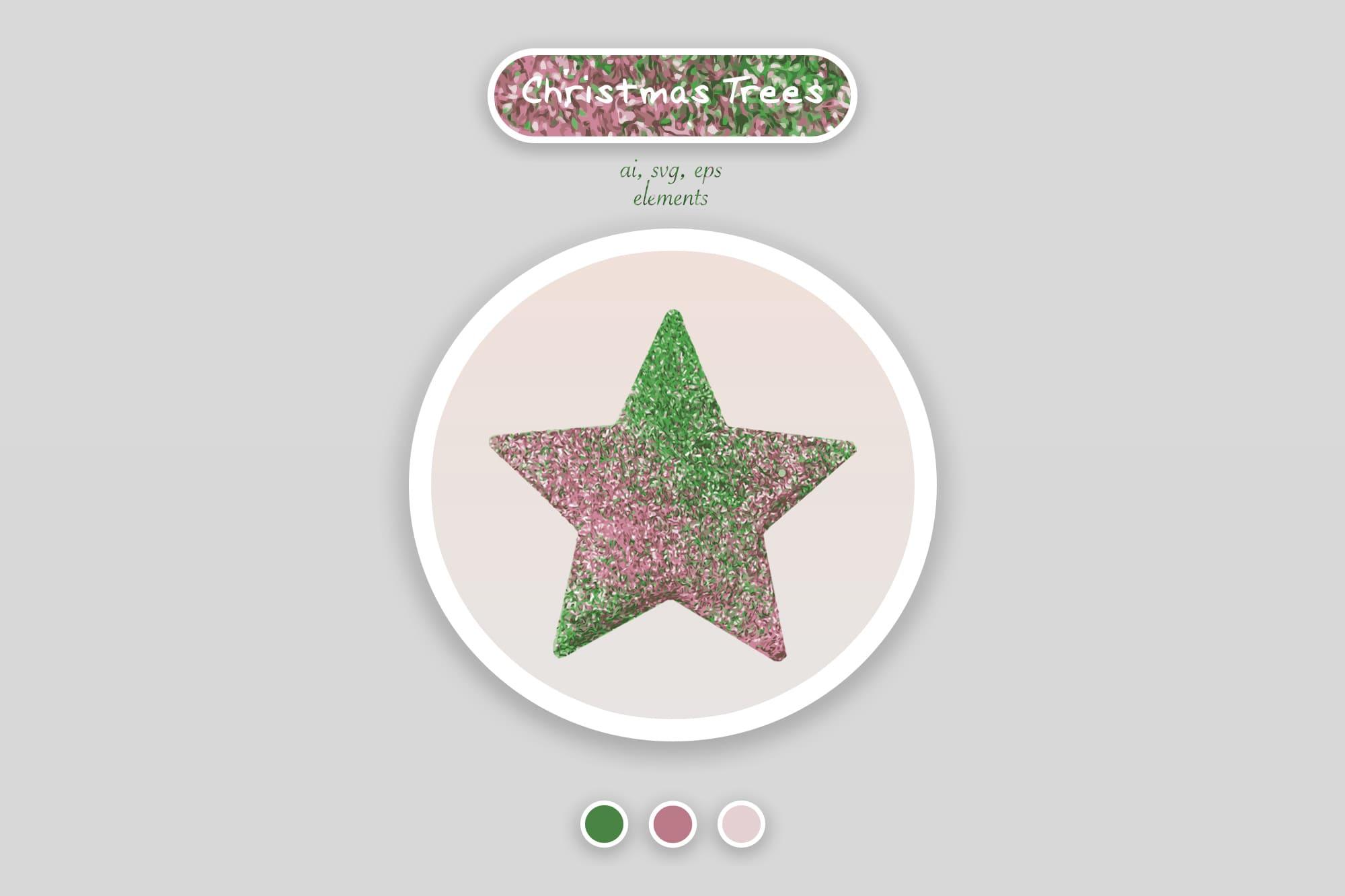 496 Christmas Illustrations: Christmas Vectors Bundle SVG, EPS, AI - Stars 1a