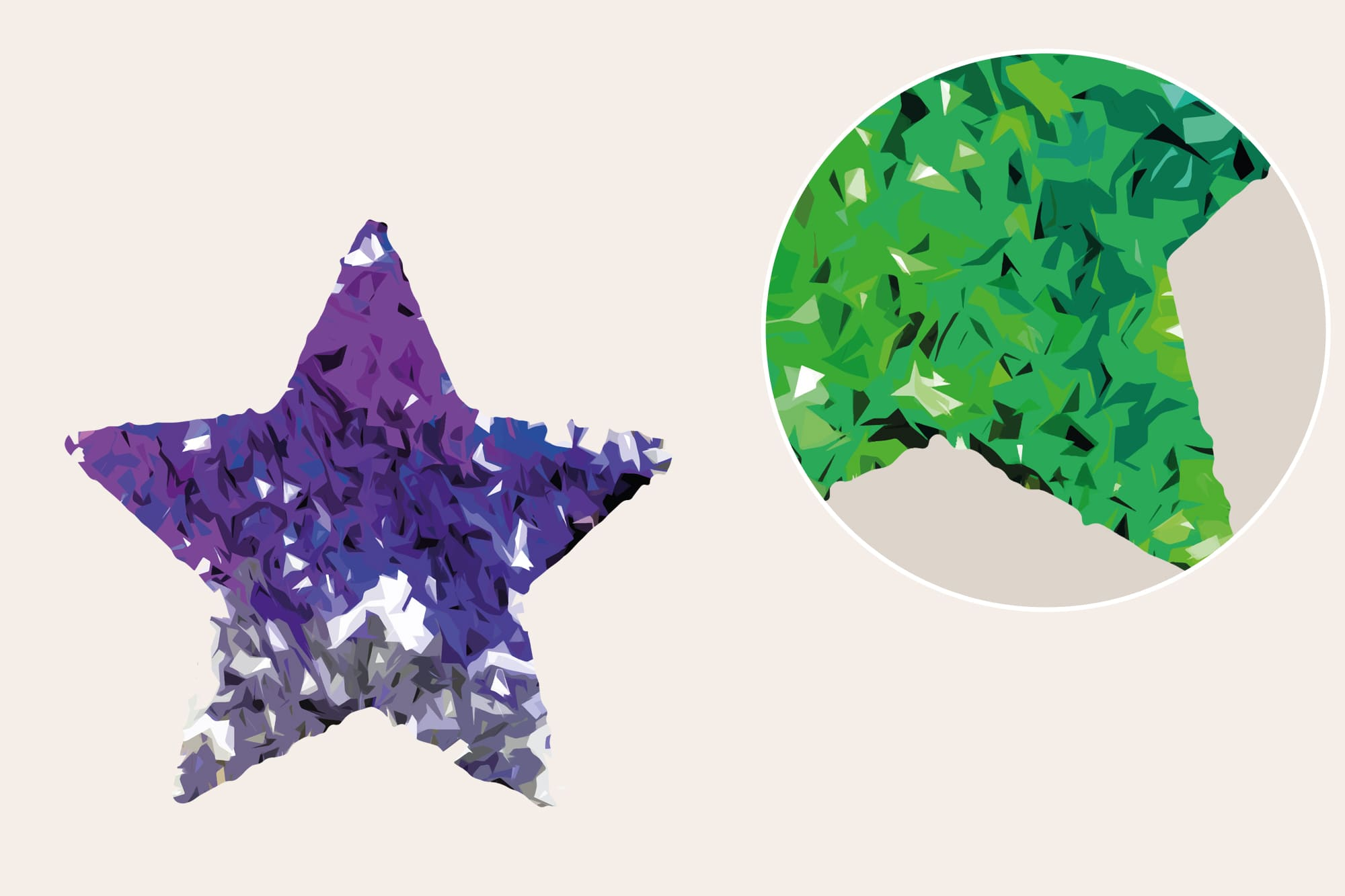 496 Christmas Illustrations: Christmas Vectors Bundle SVG, EPS, AI - Stars 2b