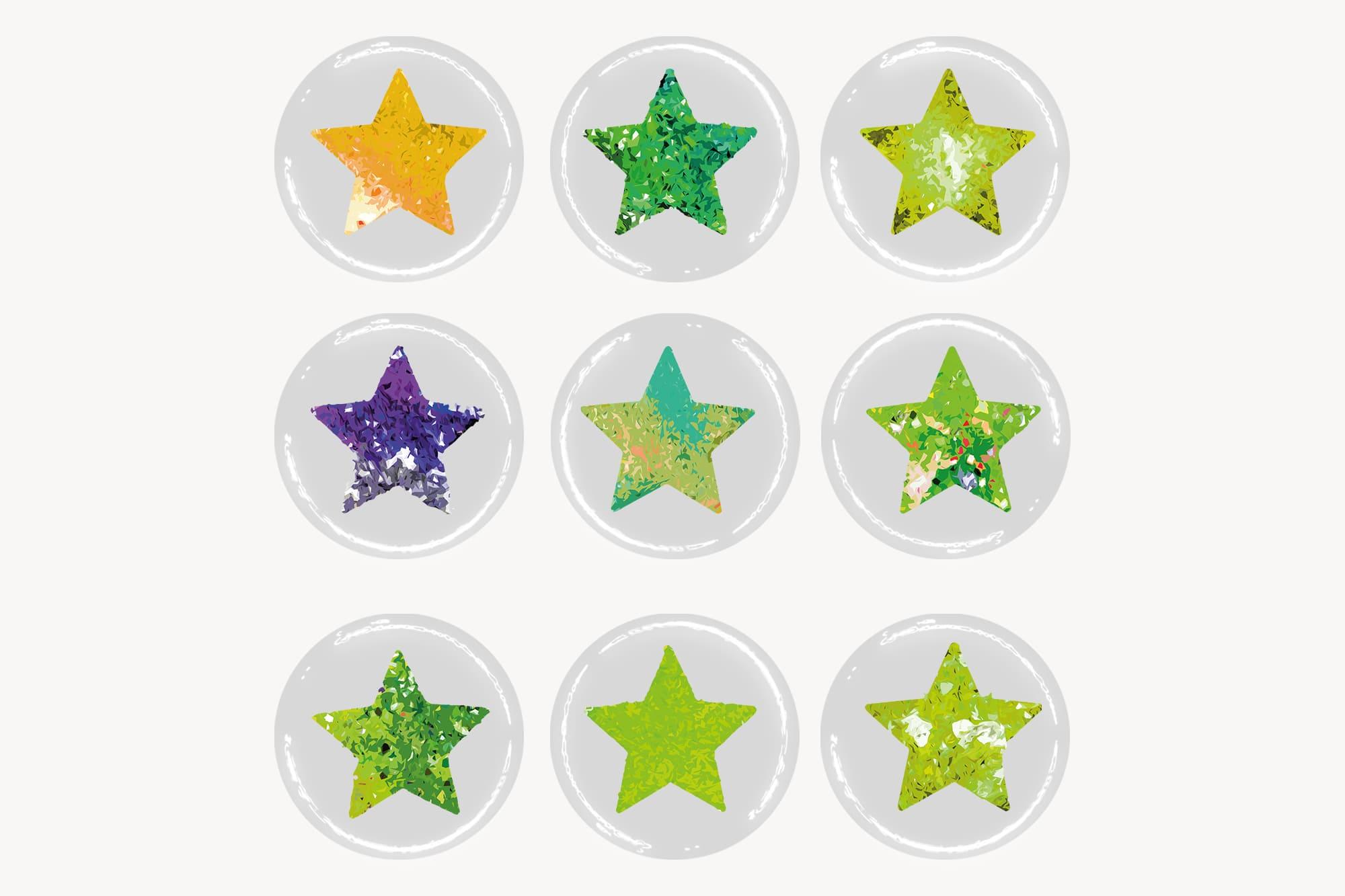 496 Christmas Illustrations: Christmas Vectors Bundle SVG, EPS, AI - Stars 2c