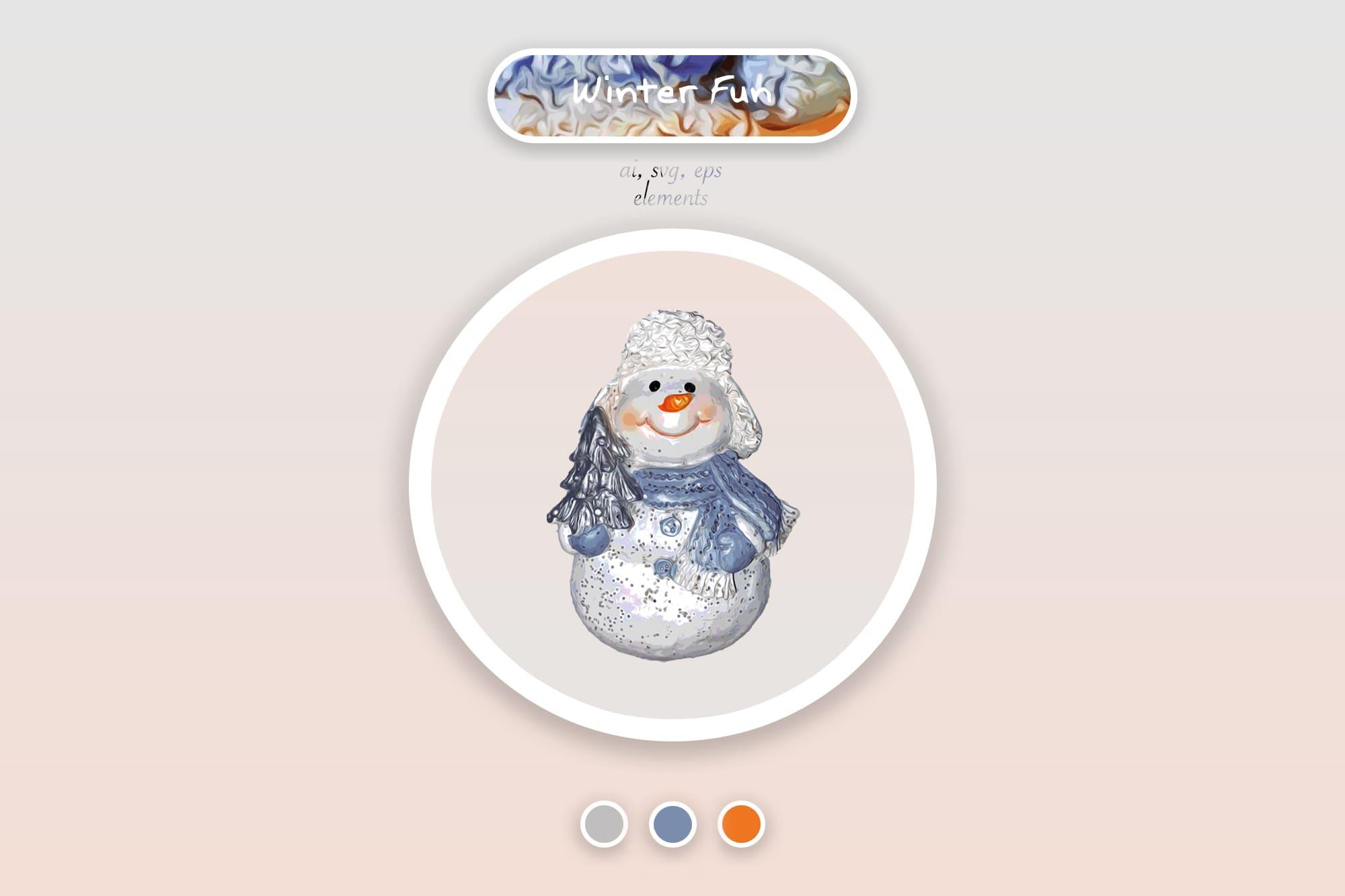 496 Christmas Illustrations: Christmas Vectors Bundle SVG, EPS, AI - Winter fun 1a