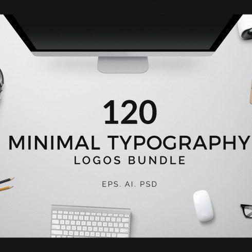 120 Minimal Typography Logos Bundle - a minimal typography logo bundle 1 1 490x490