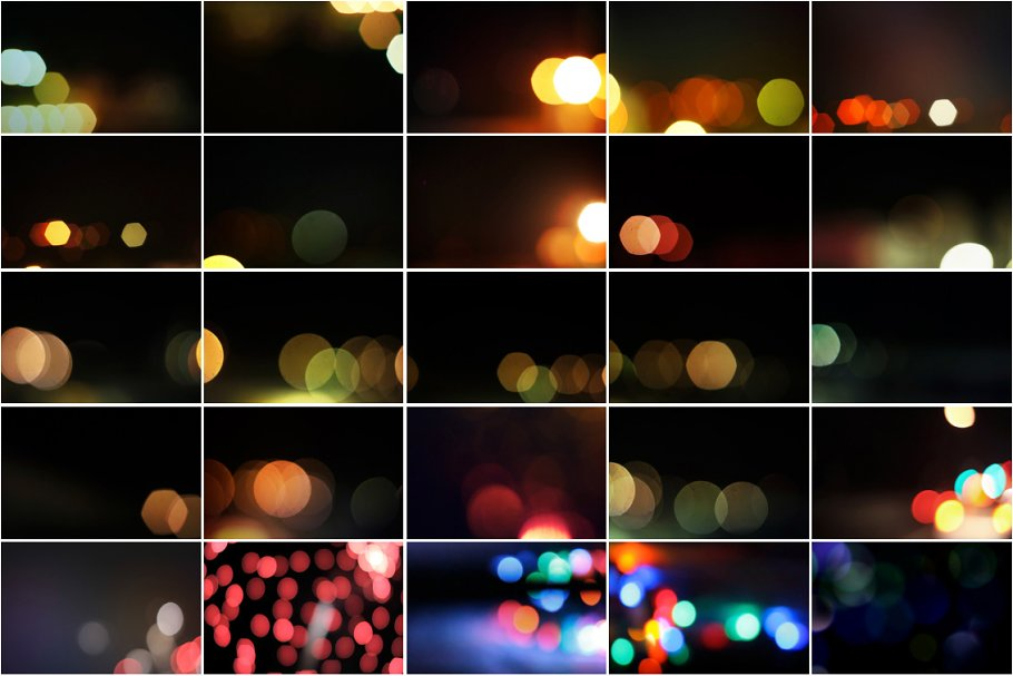 Christmas Light Bokeh Overlay